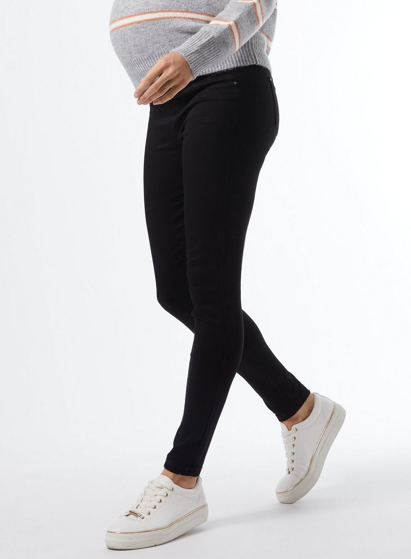 Dorothy Perkins Womens Maternity Black Frankie Underbump Denim Jeans Pants