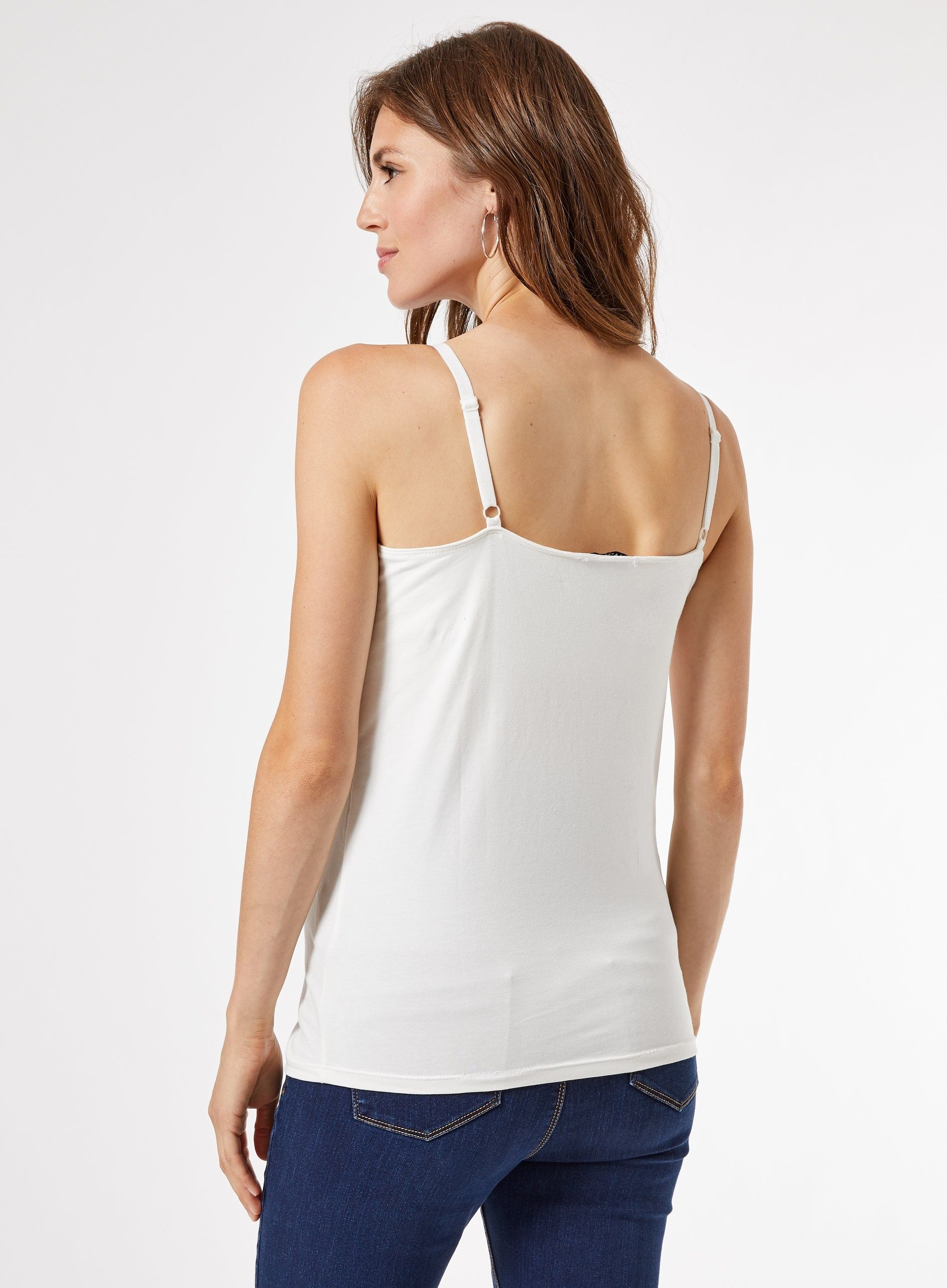 Dorothy Perkins Womens Maternity Ivory 2 Pack Basic Plain Everyday Camisole Top