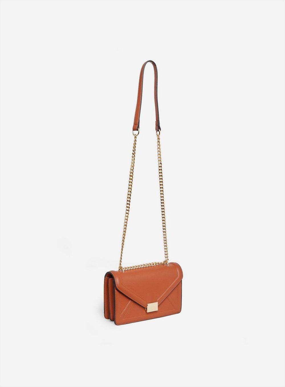 Dorothy Perkins Womens Tan Envelope Boxy Crossbody Party Shoulder Mini Bag