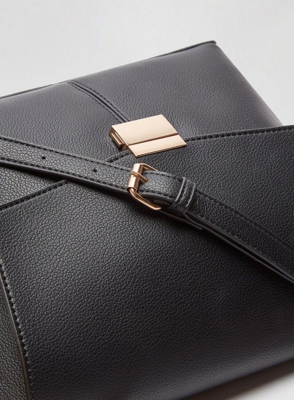 Dorothy Perkins Womens Black Top Handle Tote Bag Handbag Crossbody Shoulder