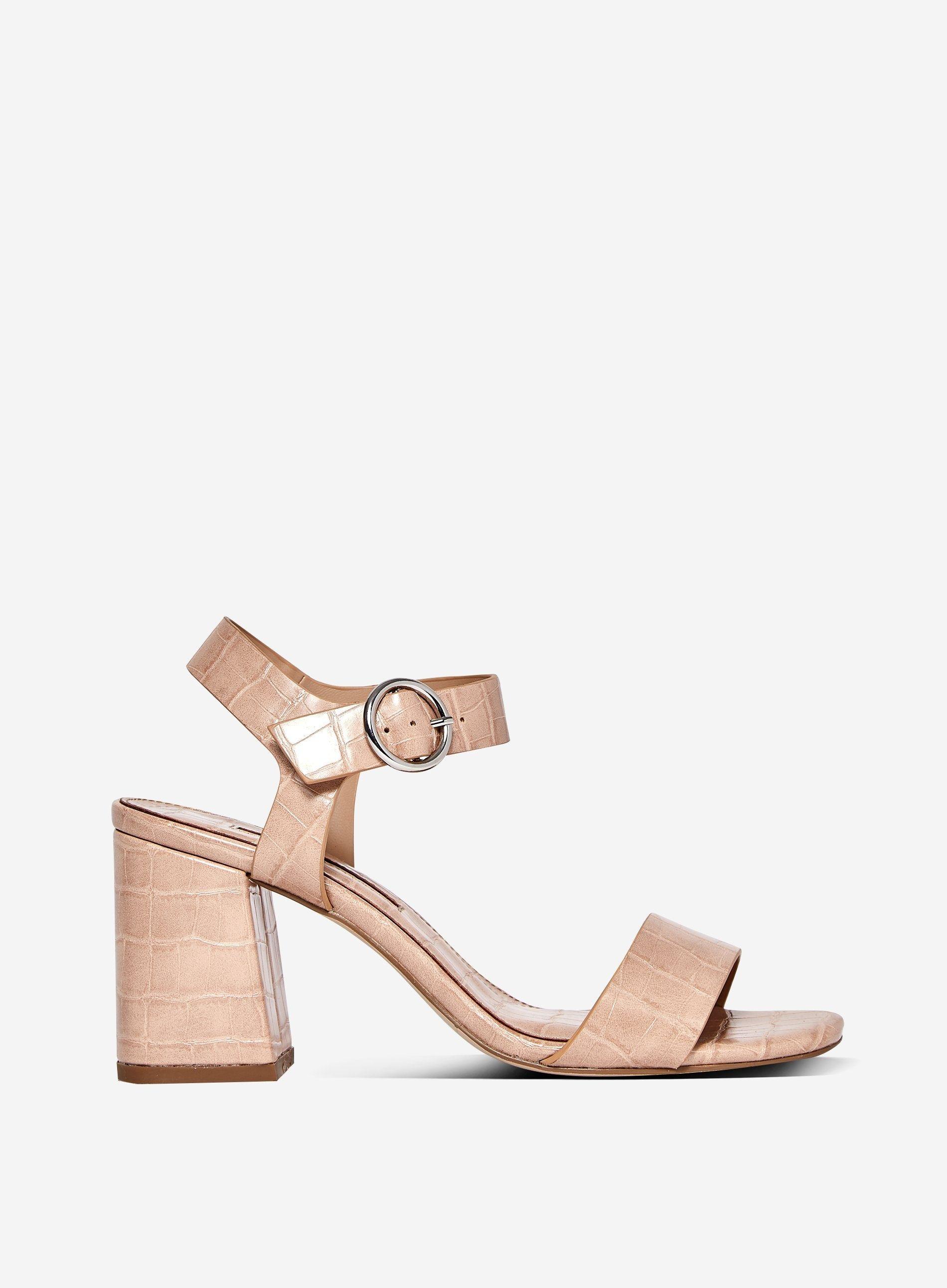 Dorothy Perkins Womens Pink Scorpio Crocodile Design Sandals Open Toe Shoes