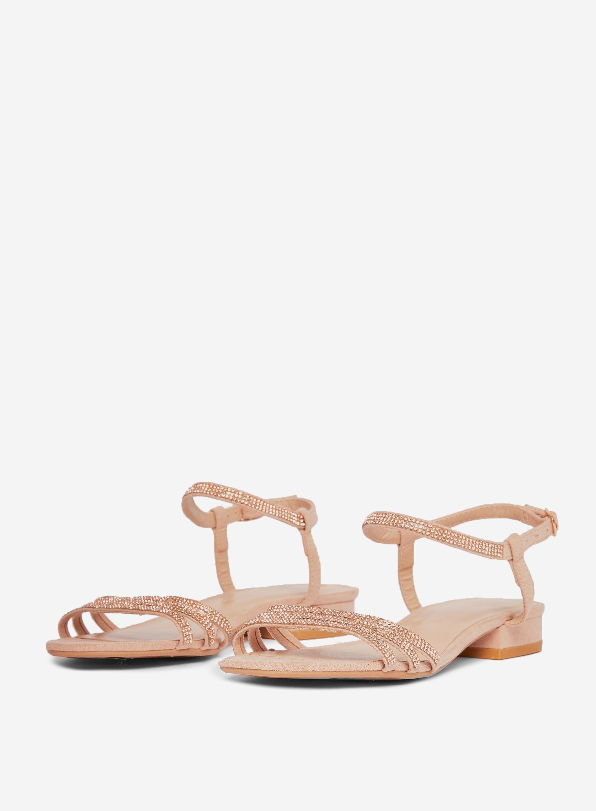 Dorothy Perkins Womens Brown Soo Heeled Sandals Round Toe Buckle Casual Shoes