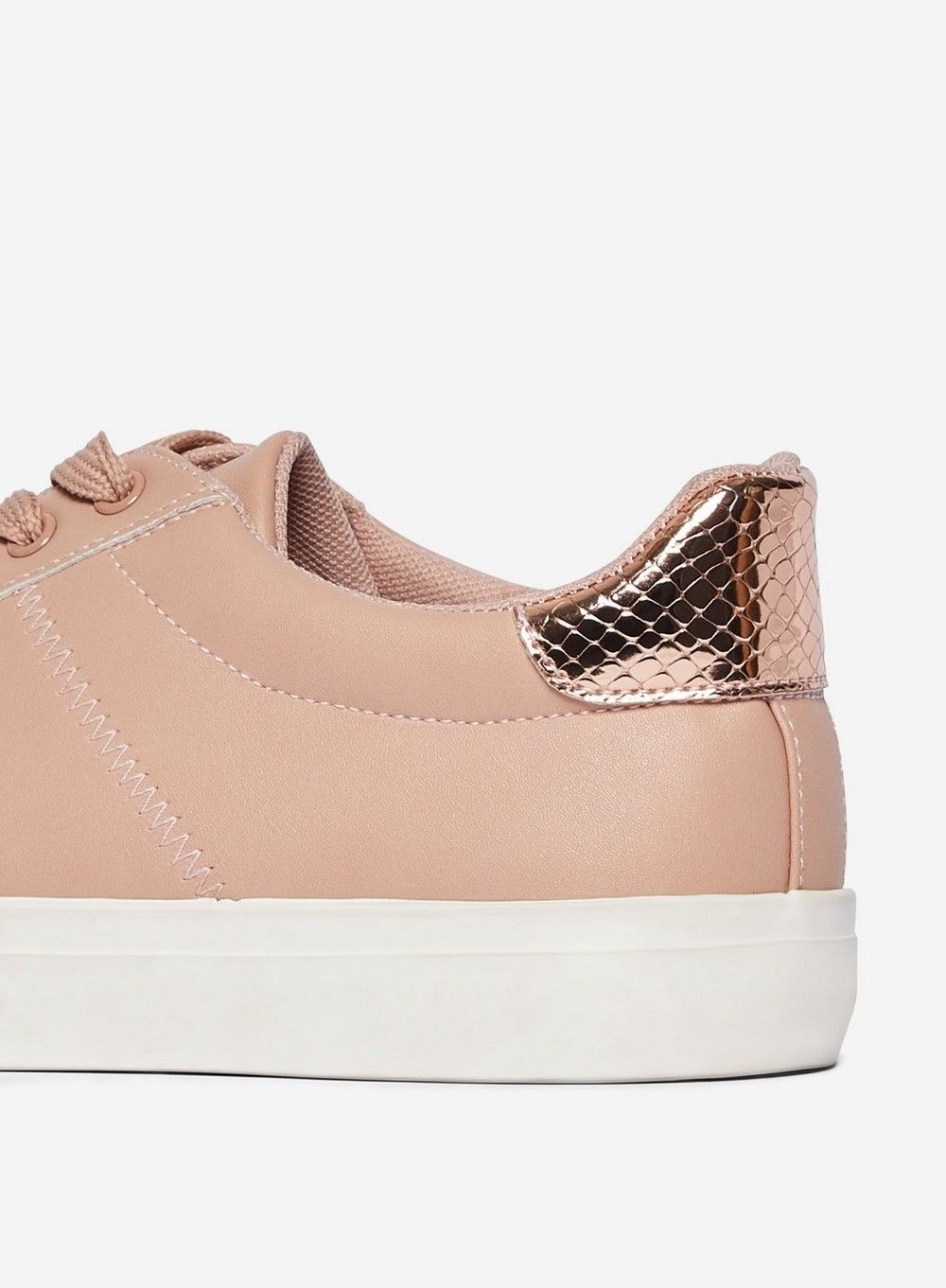 Dorothy Perkins Womens Blush Ink Fashion Casual Trainers Lace Up