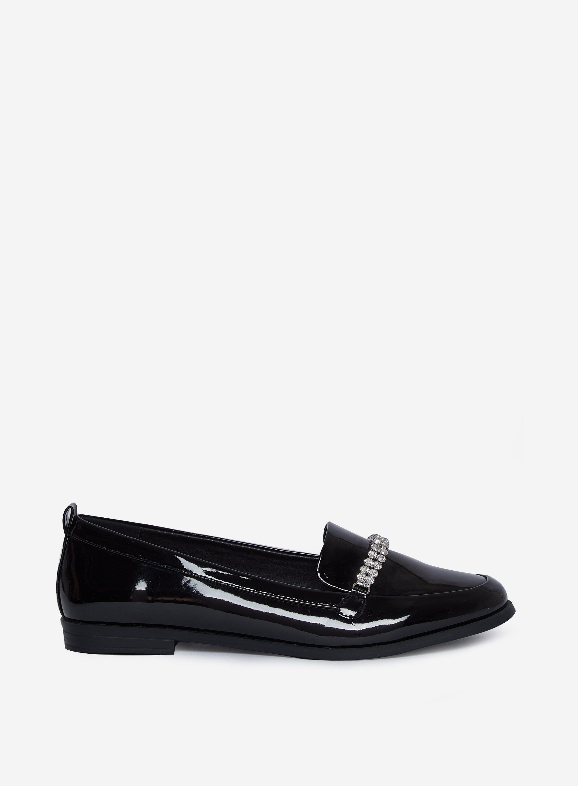 Dorothy Perkins Womens Black Lightning Loafers Flats Shoes Slip On Casual