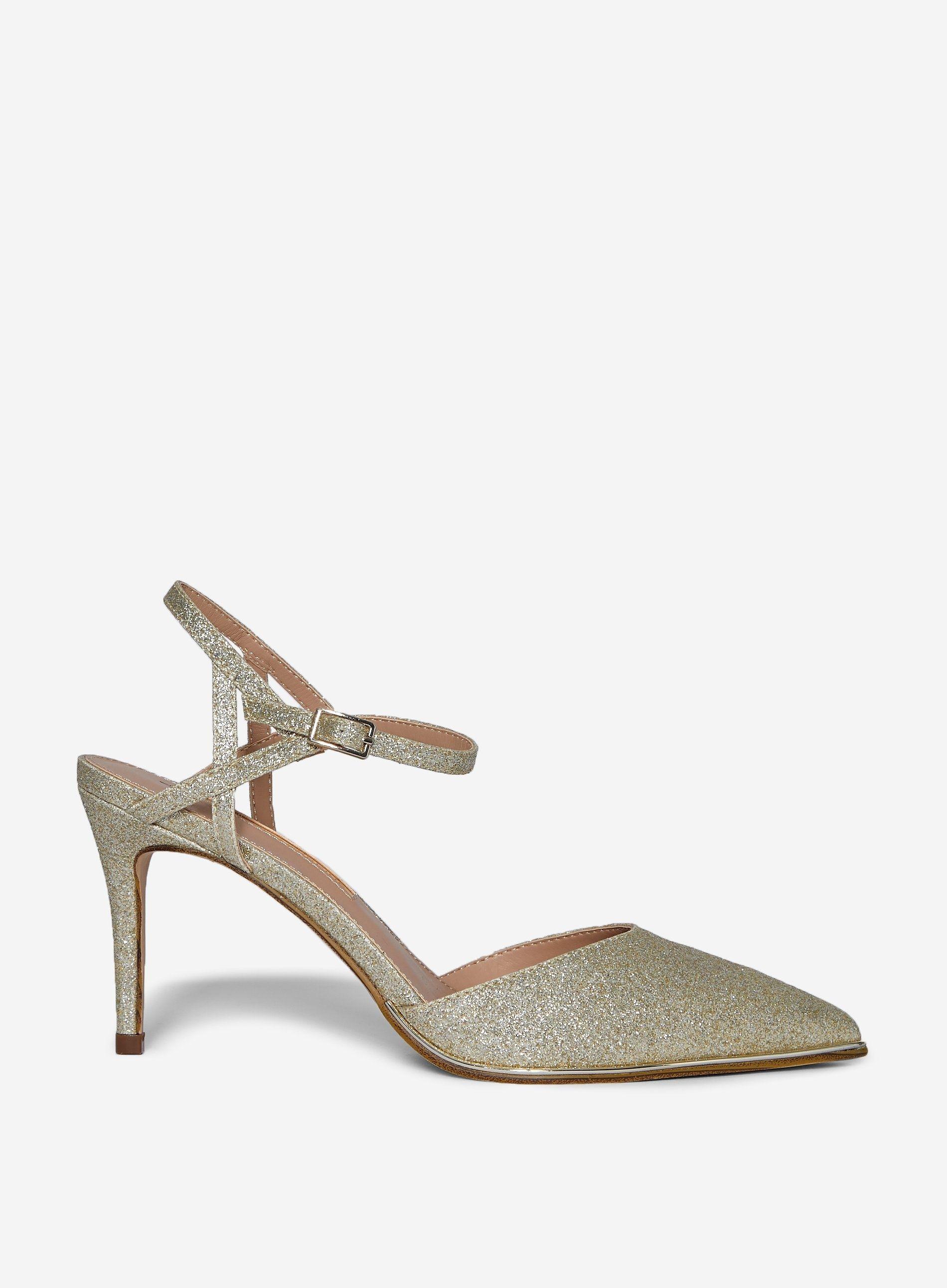 Dorothy Perkins Womens Gold Elfie Court Shoes Stiletto Heels Pumps Pointed