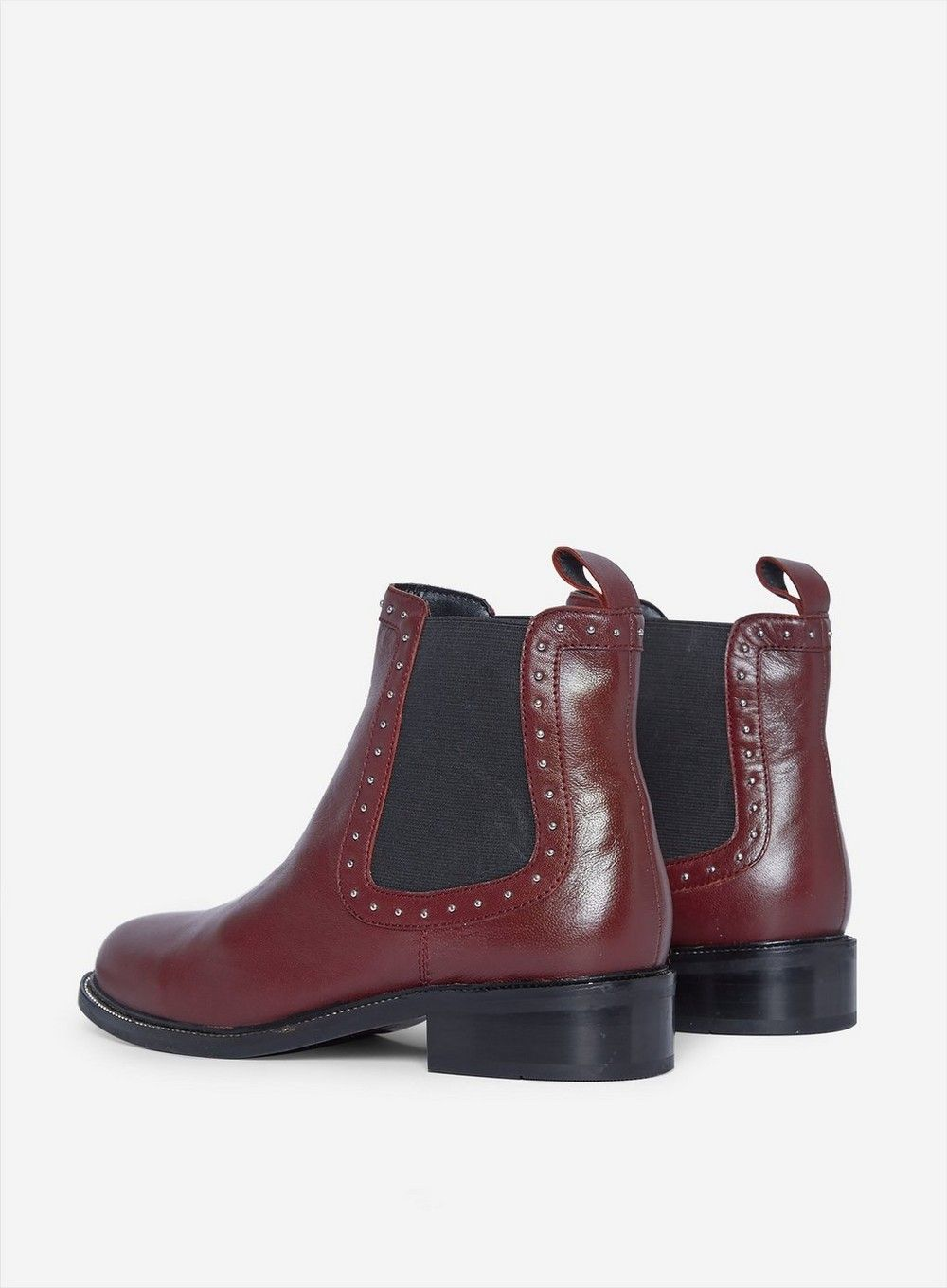 Dorothy Perkins Womens Red Oti Leather Boots Flats Winter Shoes Comfort