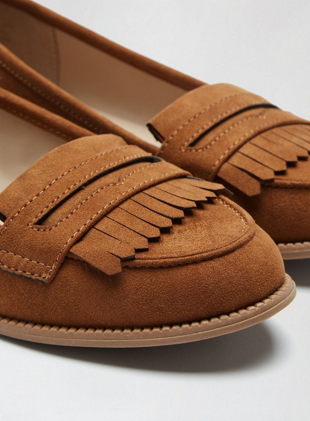 Dorothy Perkins Womens Tan Leo Loafers Comfort Smart Work Flats Shoes Moccasins