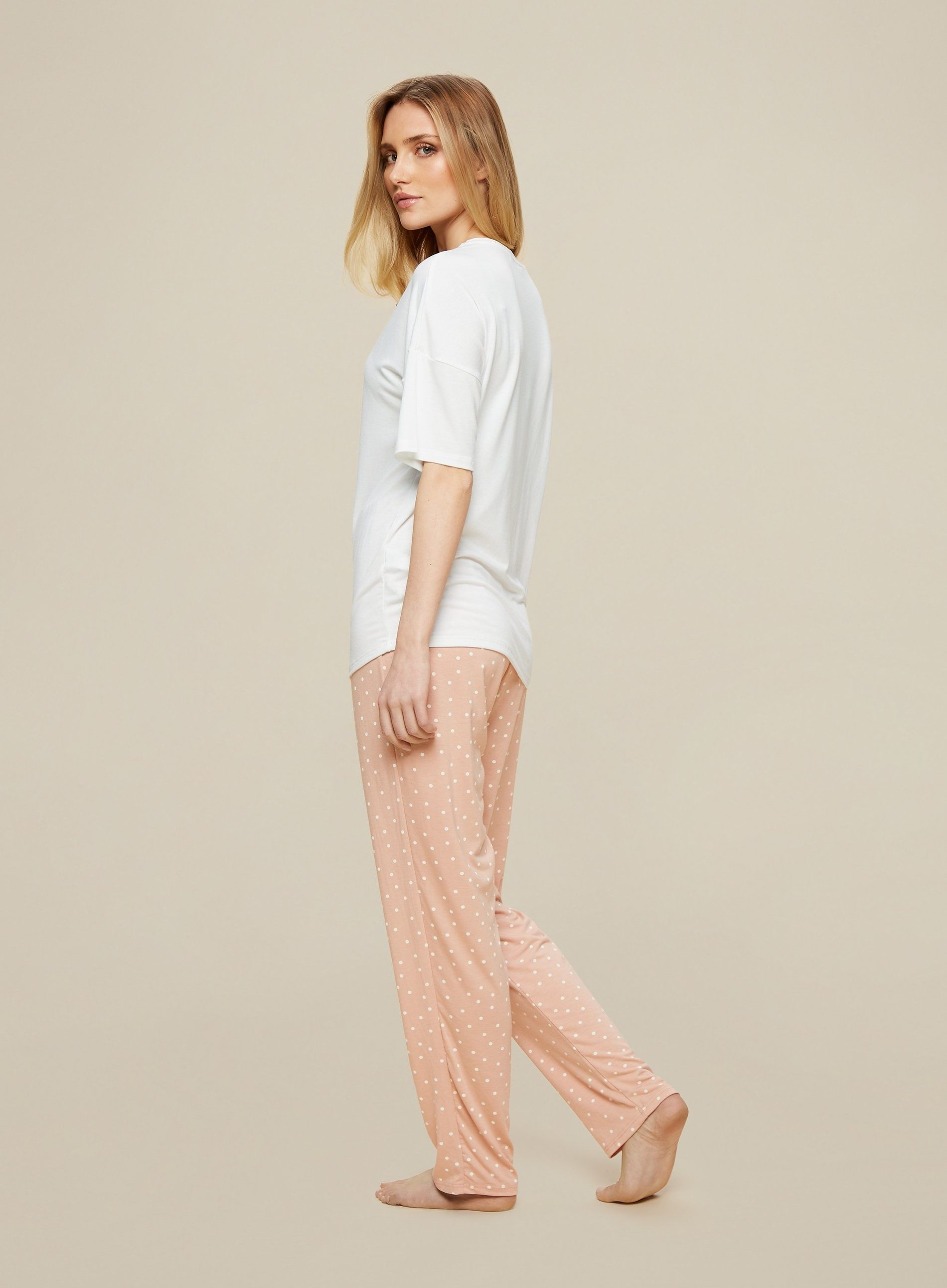 Dorothy Perkins Womens Blush Love Twosie Pyjama Set Lounge Nightwear Sleepwear