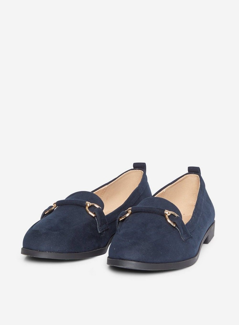 Dorothy Perkins Womens Wide Fit Blue Loon Snaffle Loafers Flats Comfort Shoes