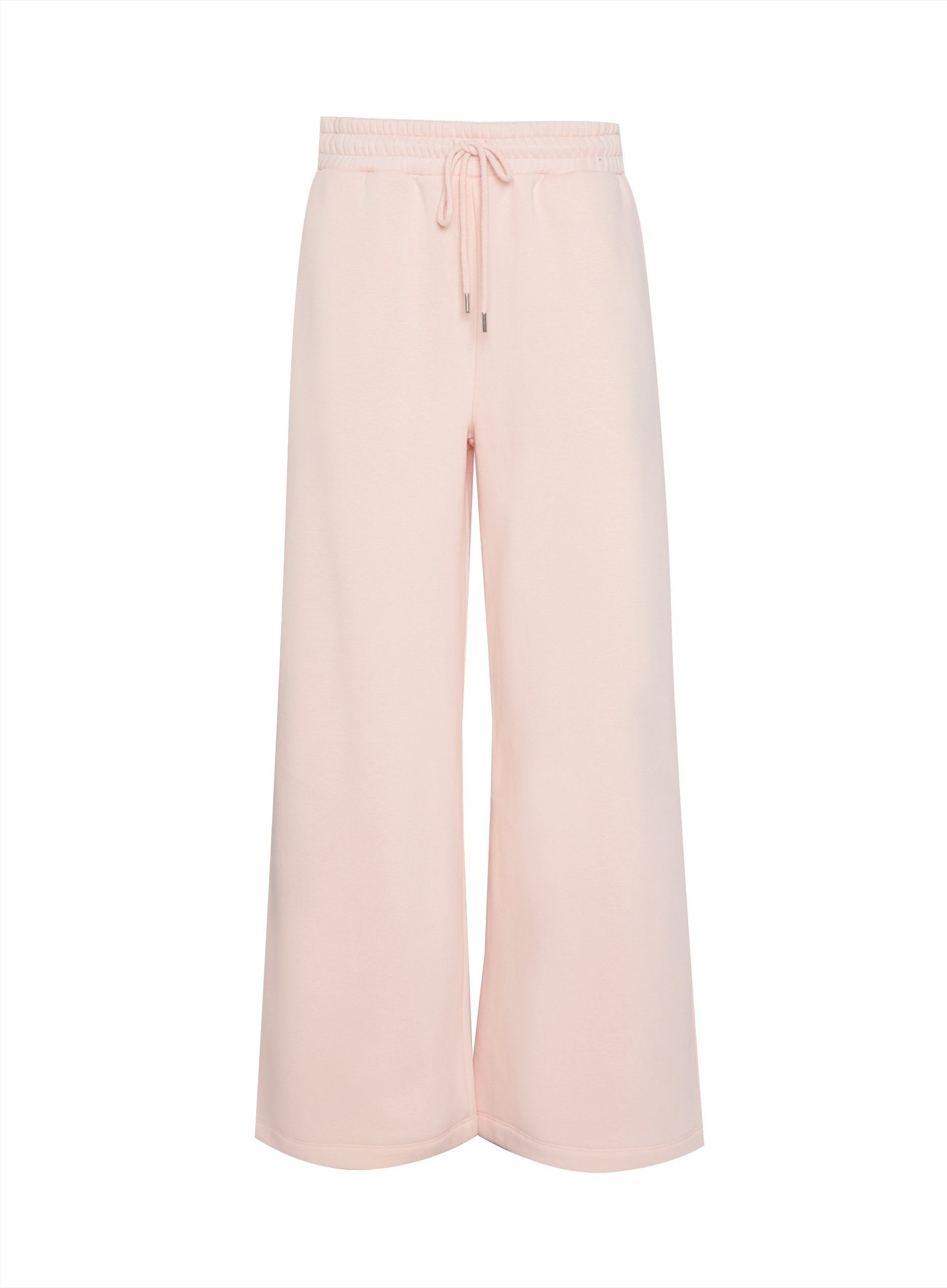 Dorothy Perkins Womens Pink Wide Leg Soft Trousers Front Tie Flare Pants Bottoms
