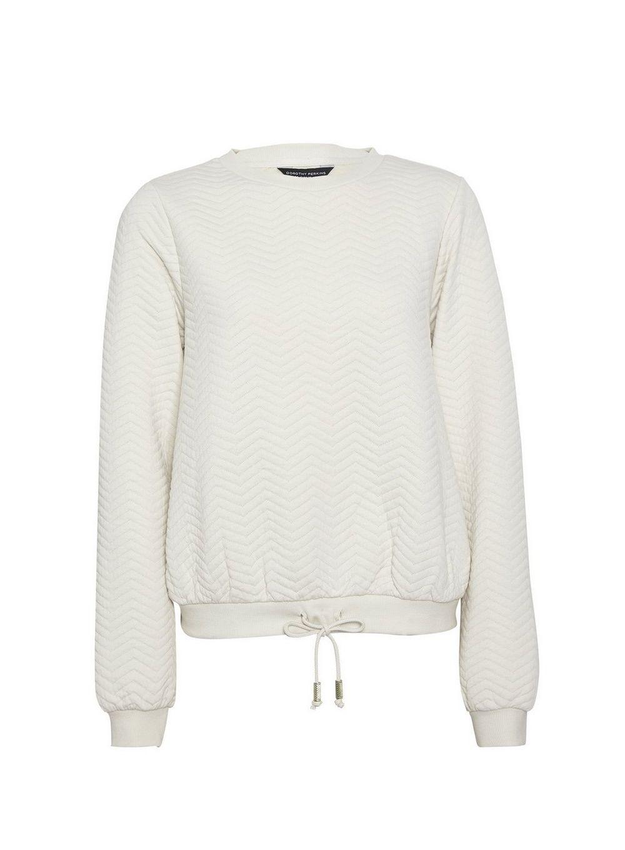 Dorothy Perkins Womens White Jacquard Sweatshirt Jumper Sweater Pullover Blouse