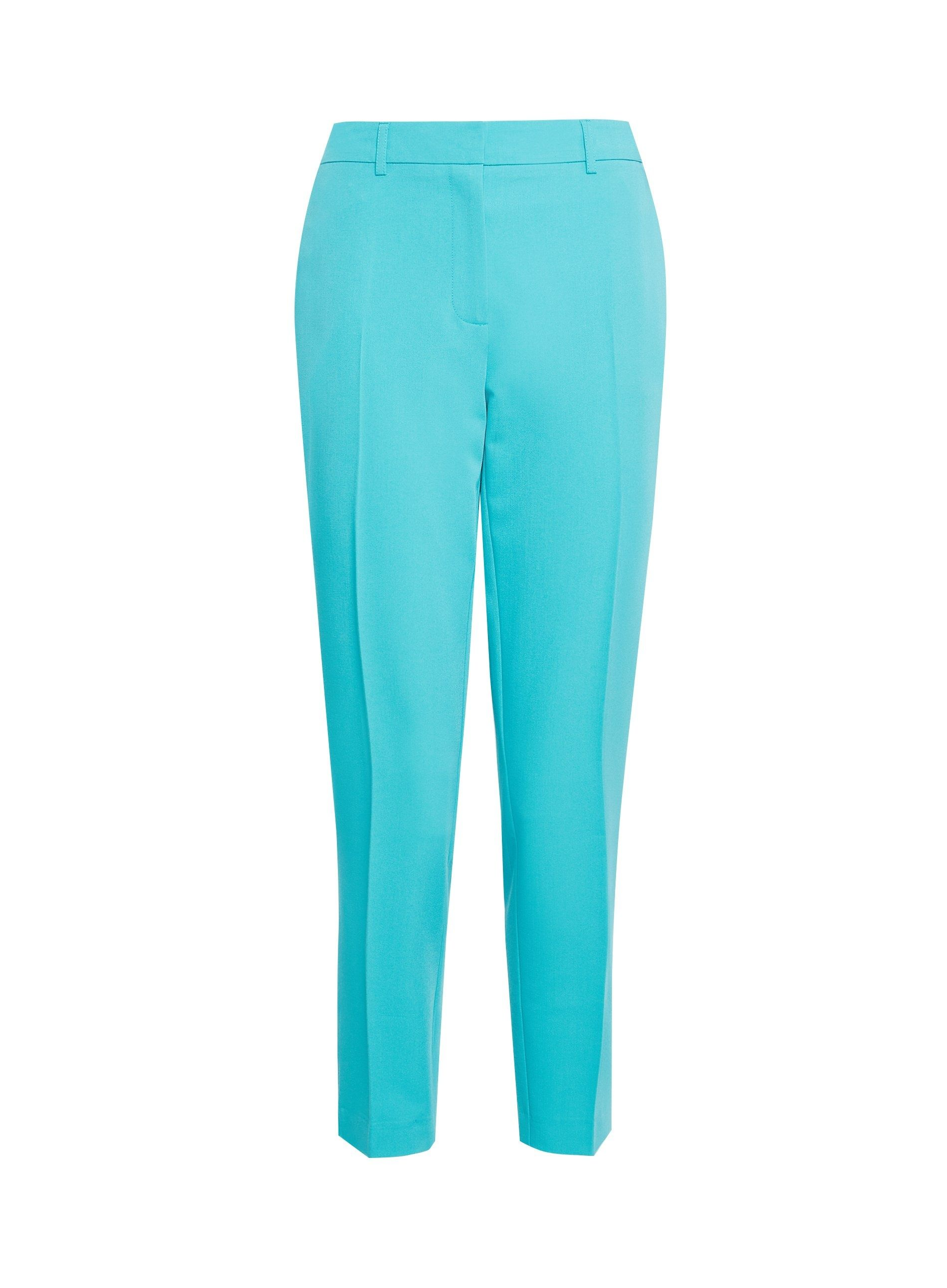 Dorothy Perkins Womens Blue Ankle Grazer Tailored Trousers Pants Bottoms