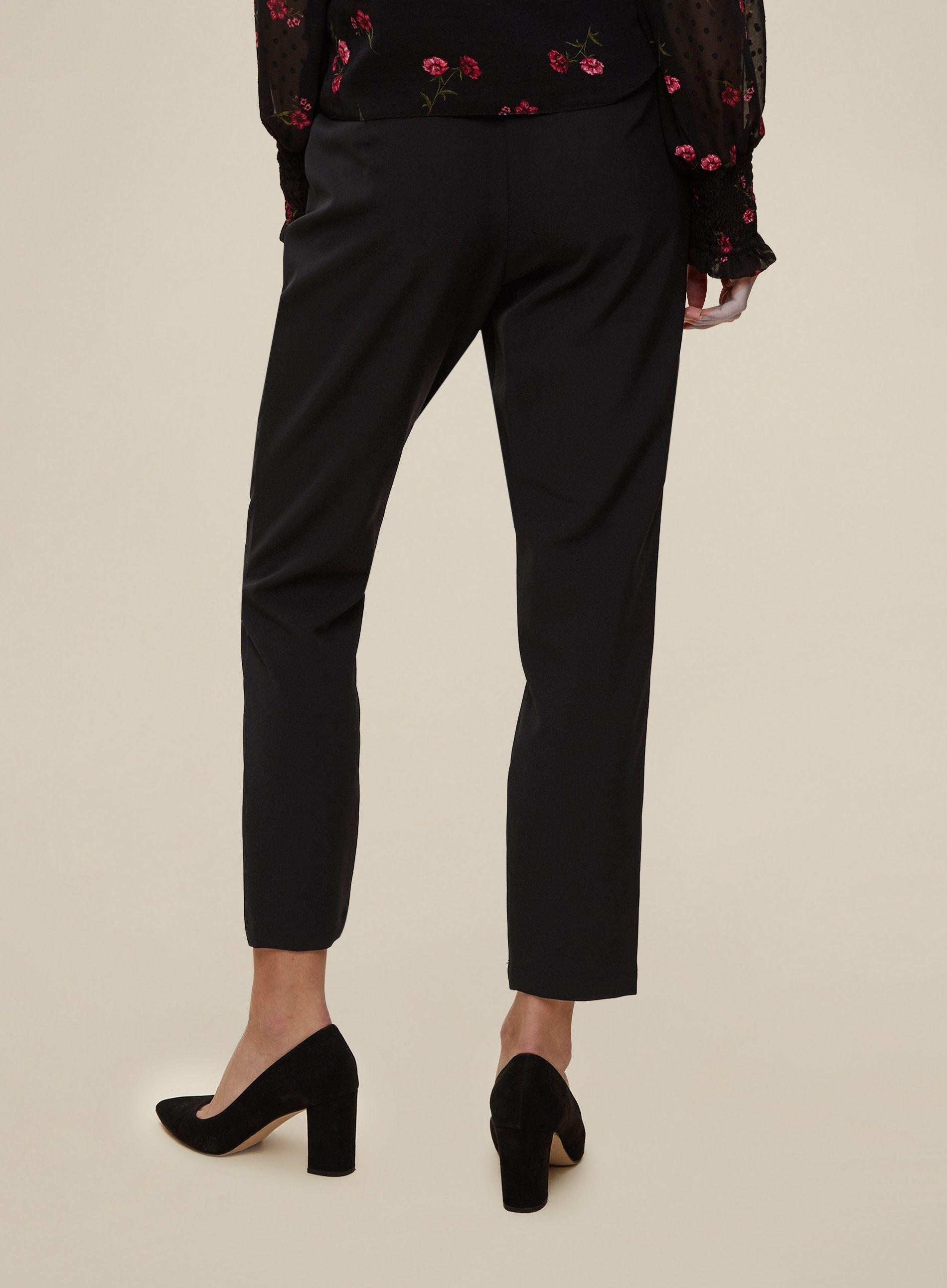 Dorothy Perkins Womens Black High Waist Trouser Bottoms Pants Regular Fit