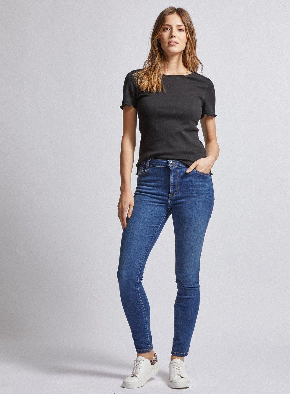 Dorothy Perkins Womens Blue Authentic Alex Denim Jeans Slim Fit Pants Bottoms