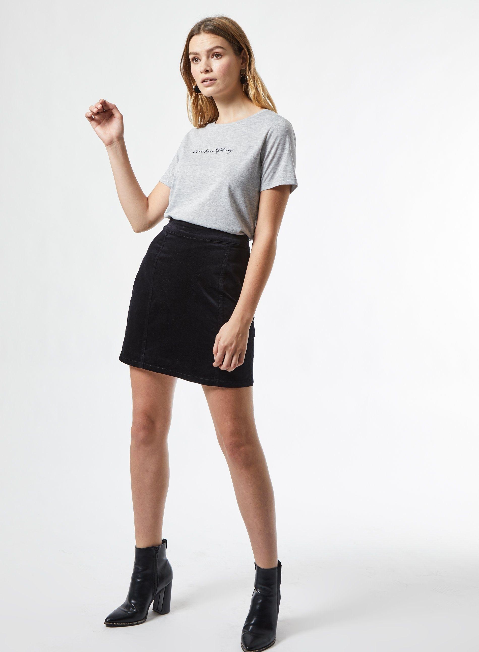 Dorothy Perkins Womens Black Velvet Skirt Plain Casual Mini Slim Fit Wear