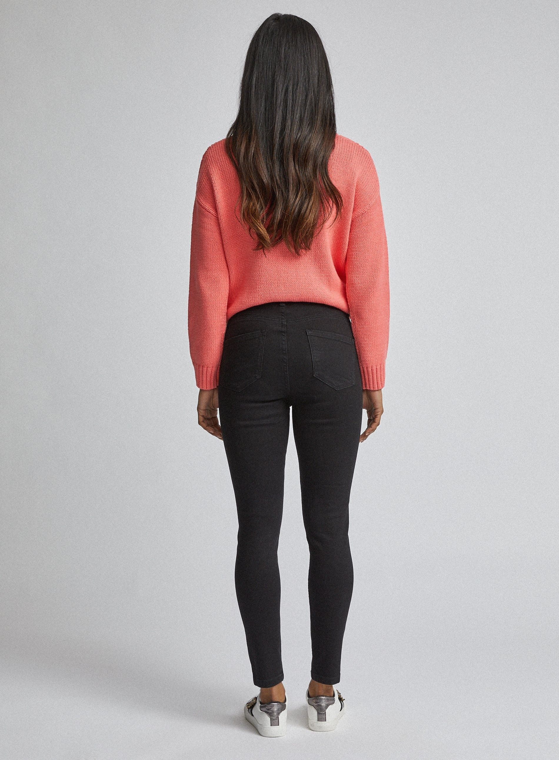 Dorothy Perkins Womens Petite Black 'Shape And Lift' Shaping Jeans Skinny Pants