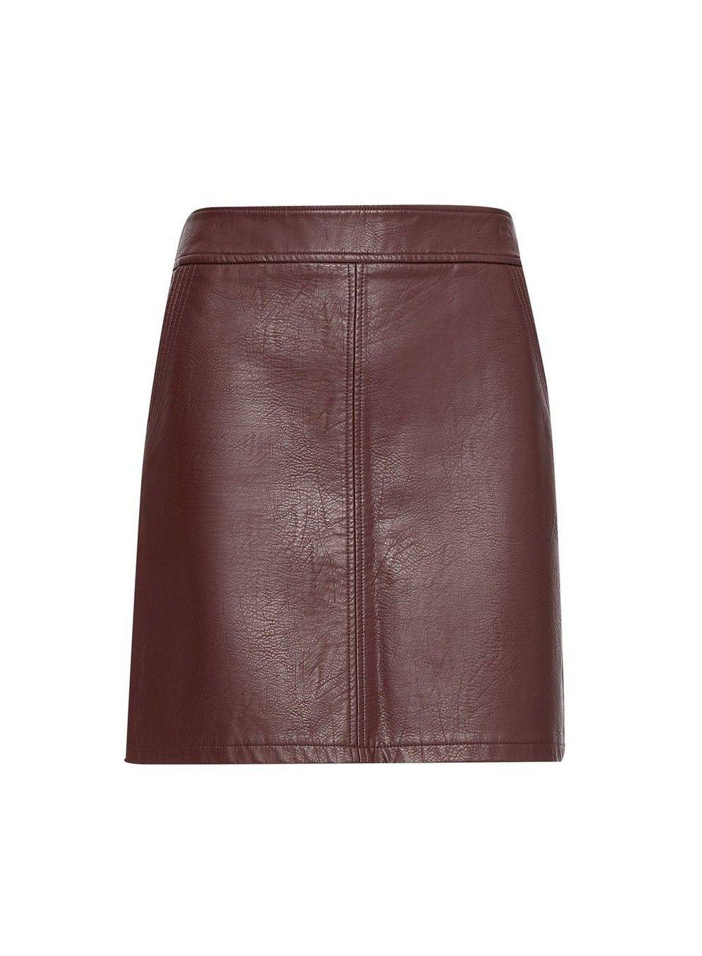 Dorothy Perkins Womens Petite PU Faux Leather Purple PU Faux Leather Mini Skirt