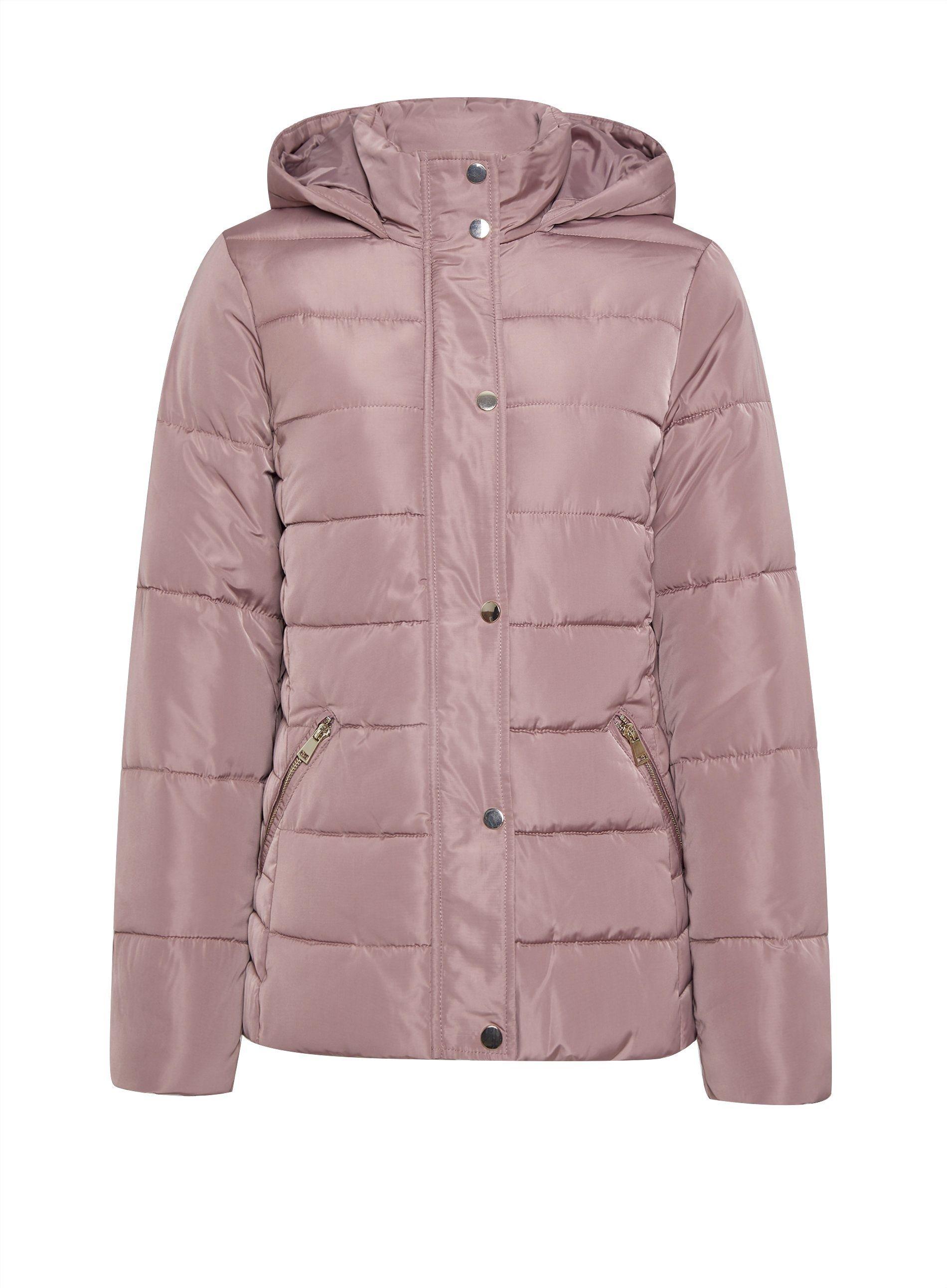 Dorothy Perkins Womens Blush Short Padded Coat Jacket Winter Warm Zip Outerwear