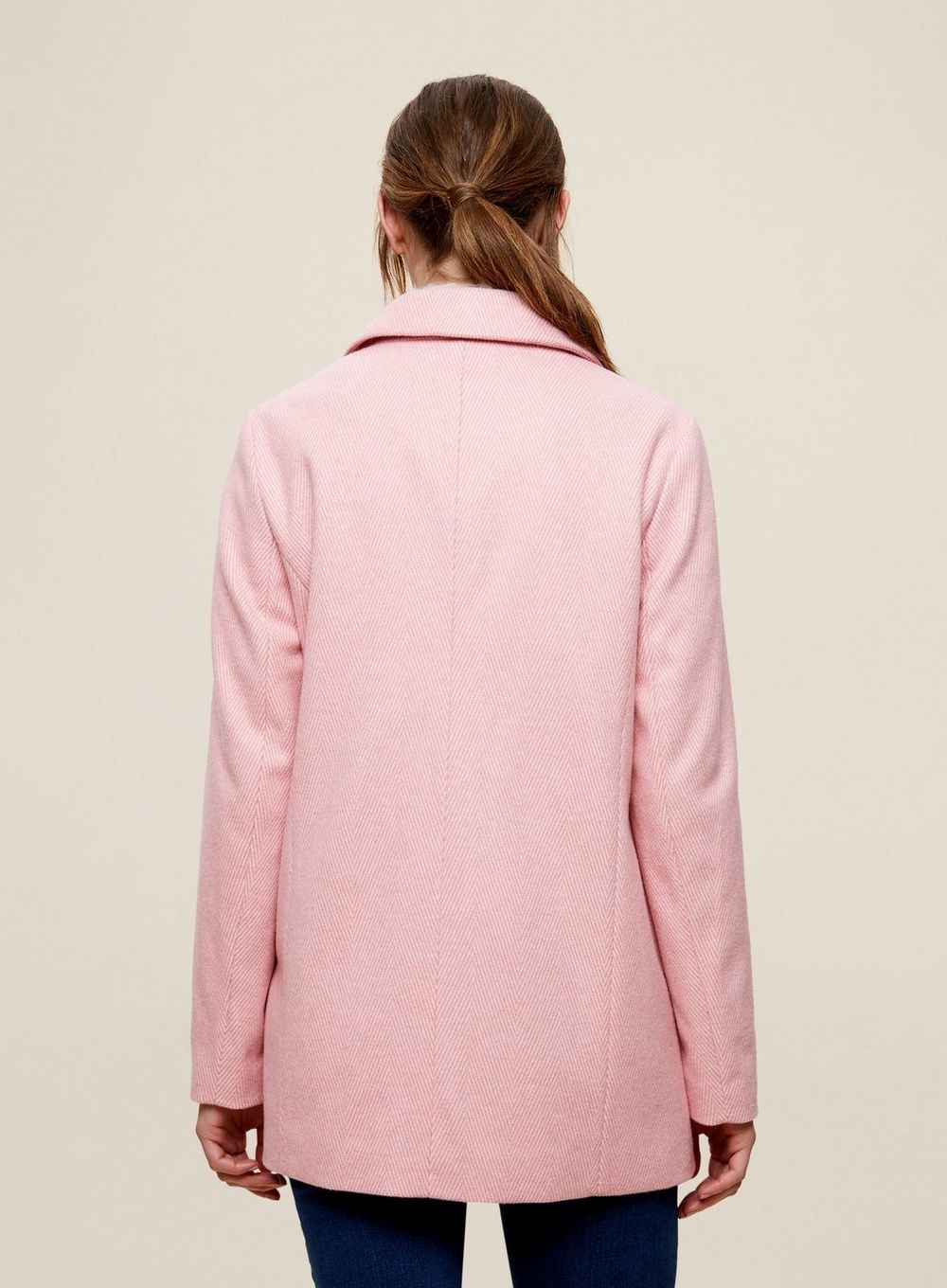 Dorothy Perkins Womens Pink Double Breasted Blazer Coat Jacket Outwear Top