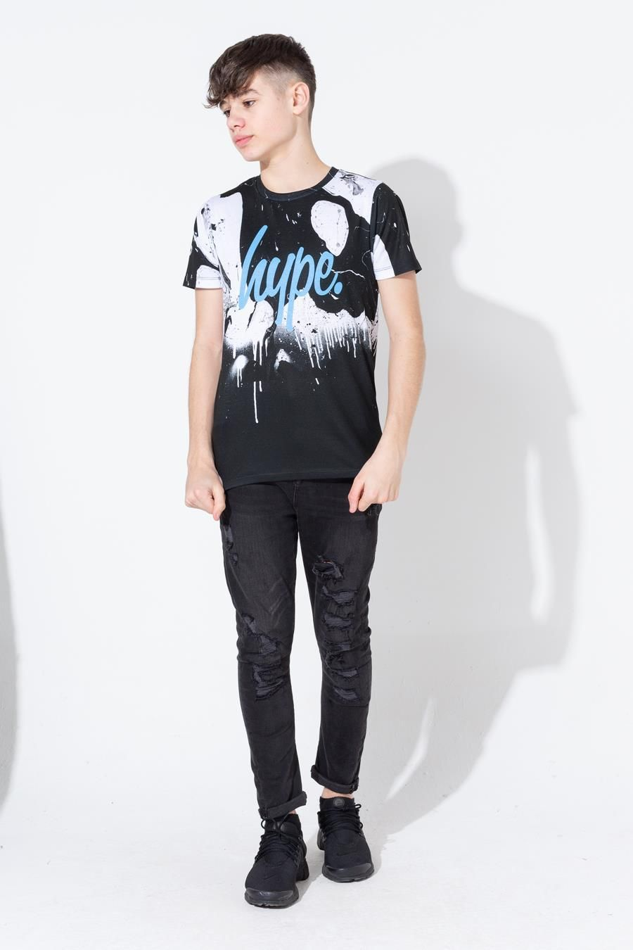 Hype Mono Marble Drips Kids T-Shirt