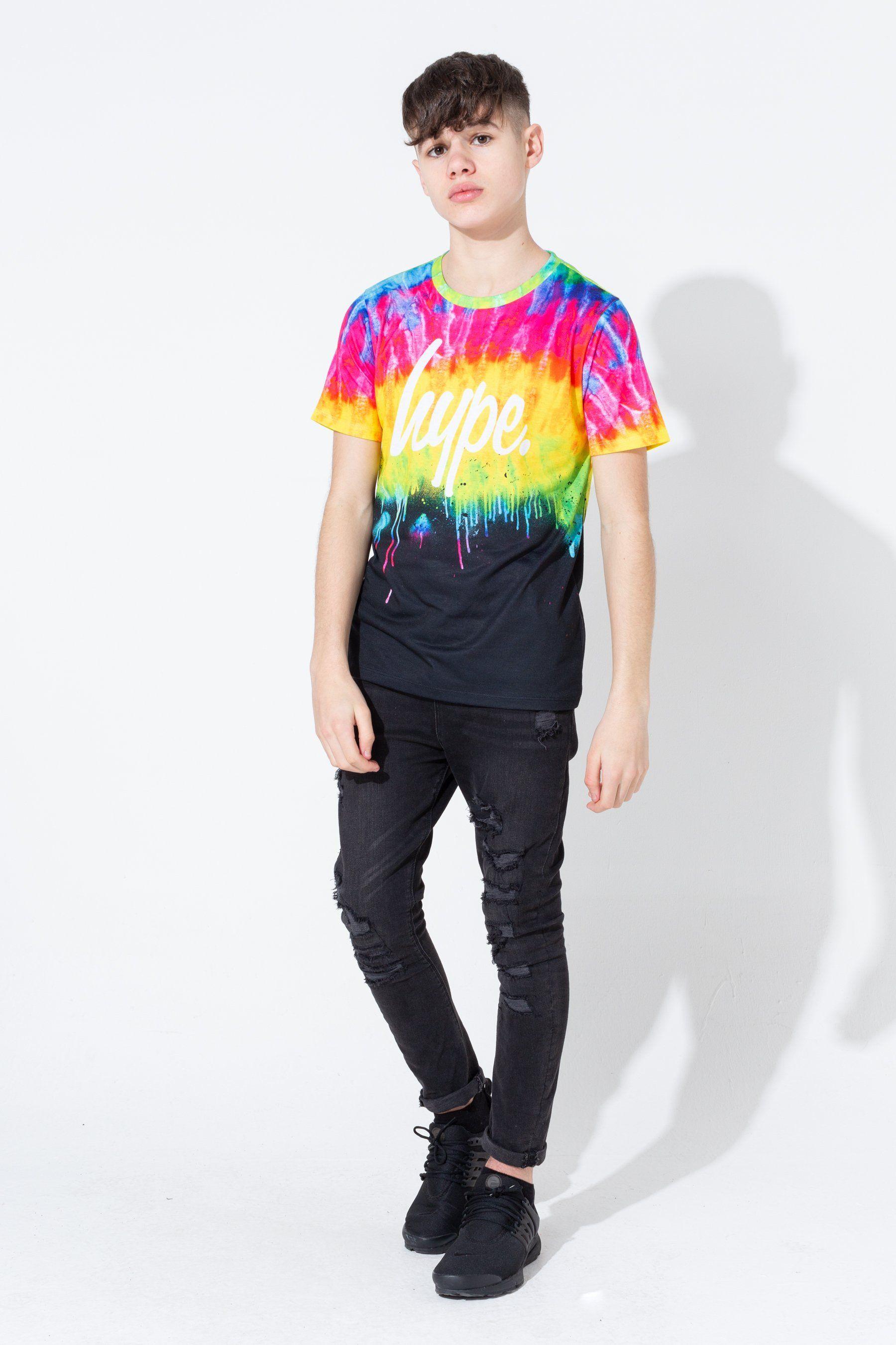 Hype Tie Dye Drips Kids T-Shirt
