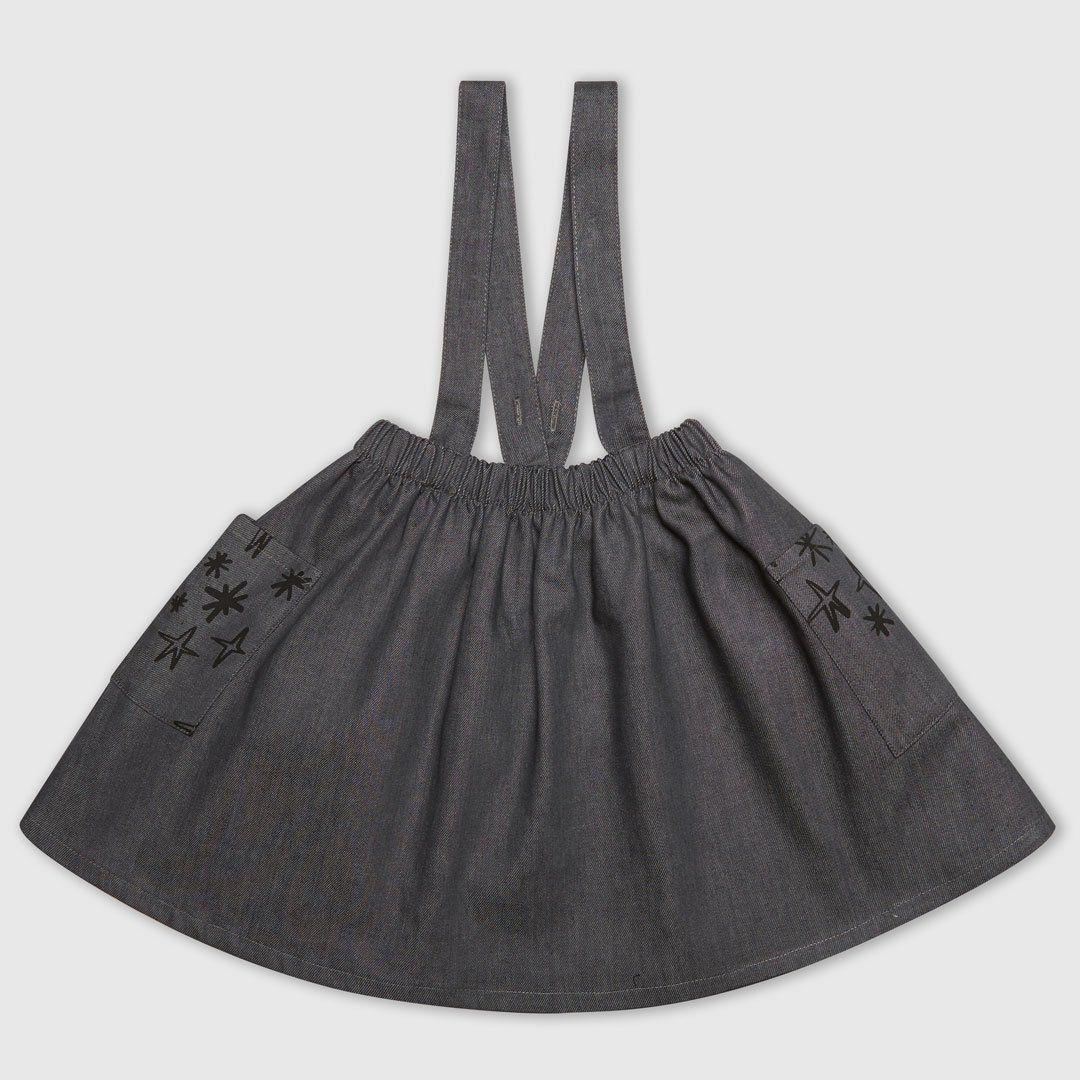 Denim Star Pinafore Dress