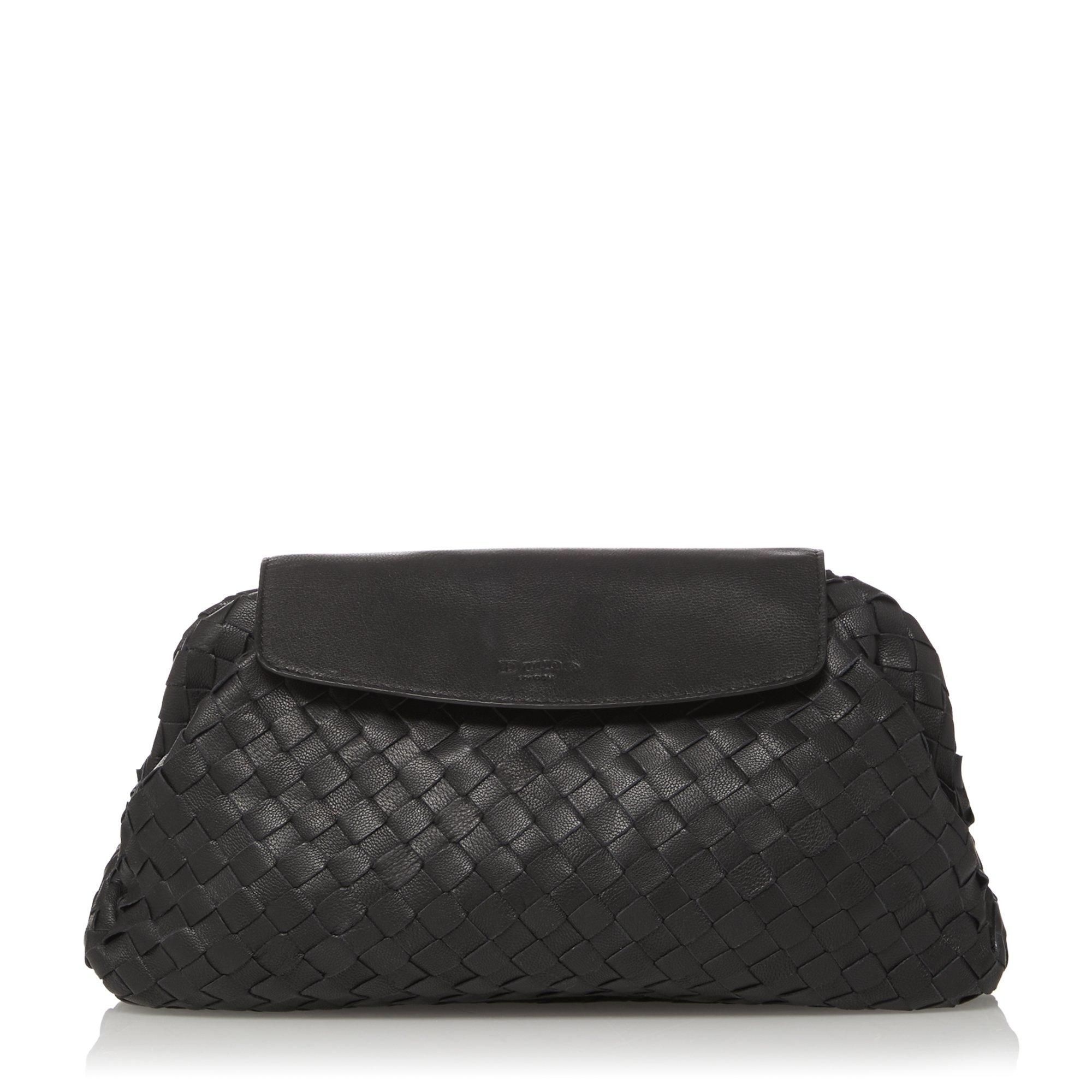Dune EMOREE Voluminous Woven Leather Clutch Bag