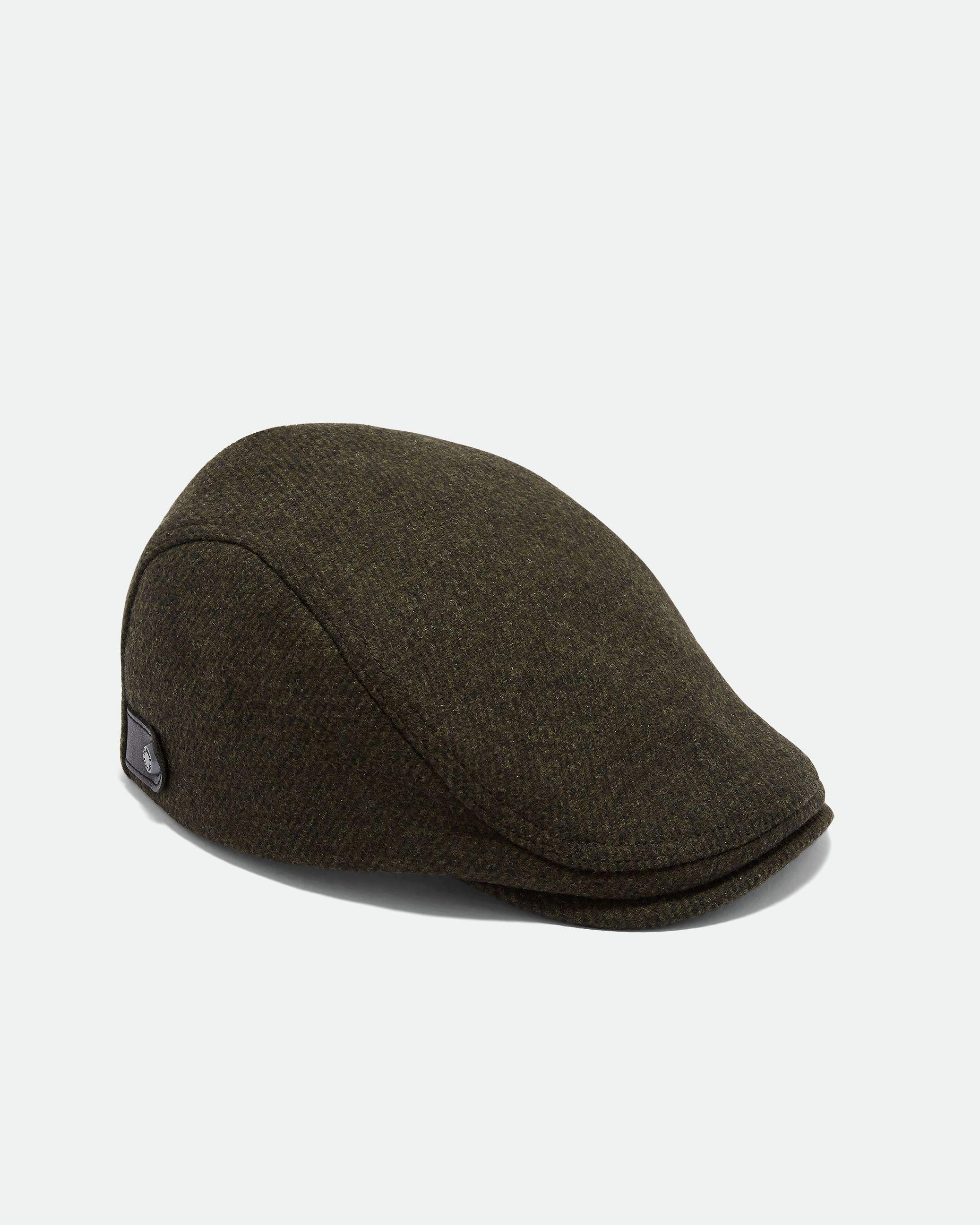 Ted Baker English Twill Flat Cap, Khaki