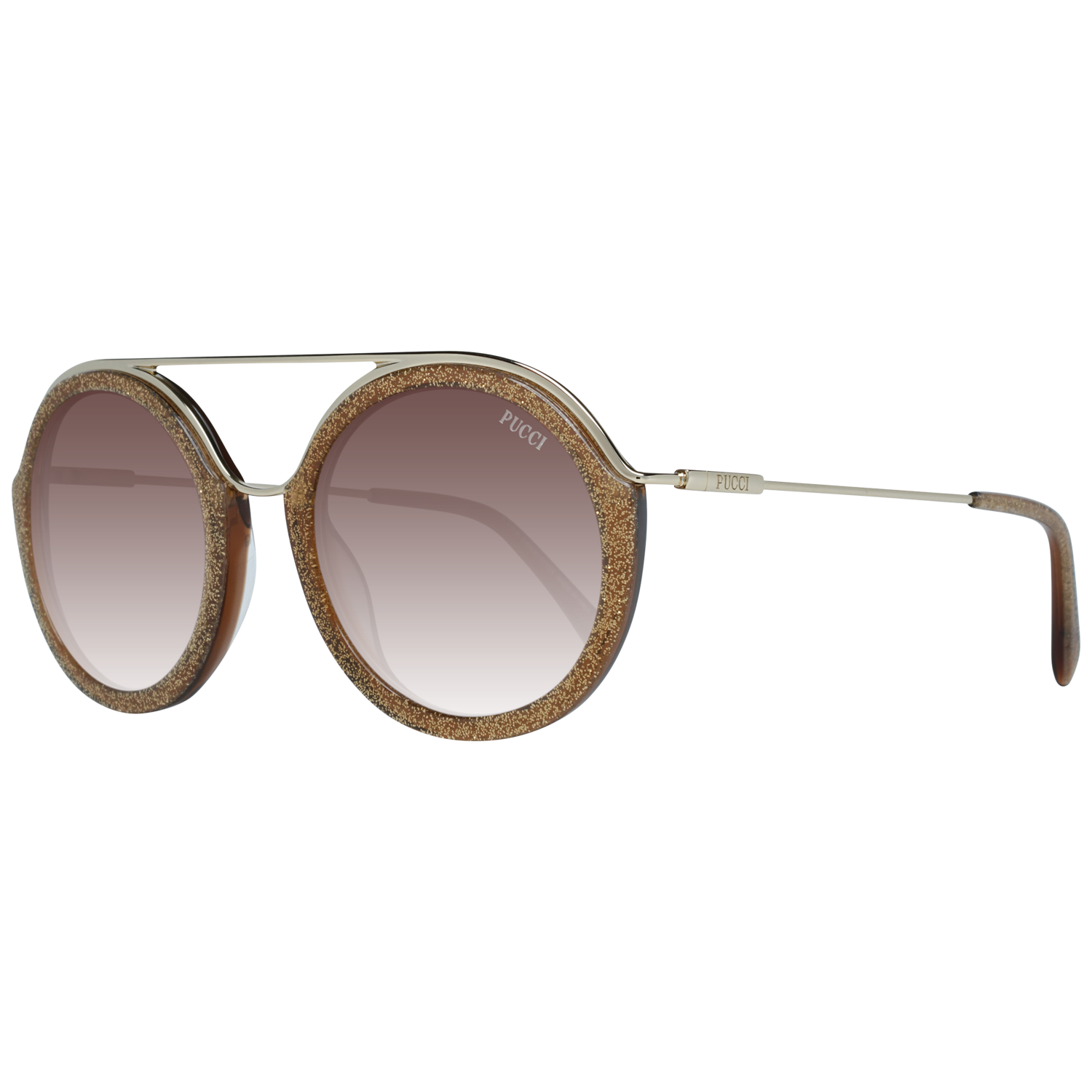 Emilio Pucci Sunglasses EP0013 47F 52 Women Gold