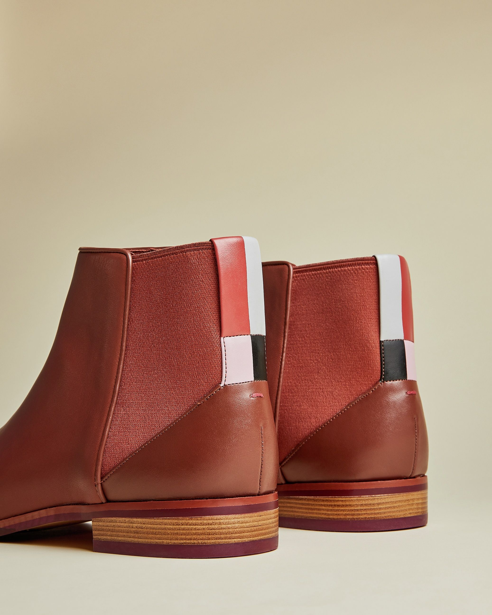 Ted Baker Equiise Cabin Leather Chelsea Boot in Tan
