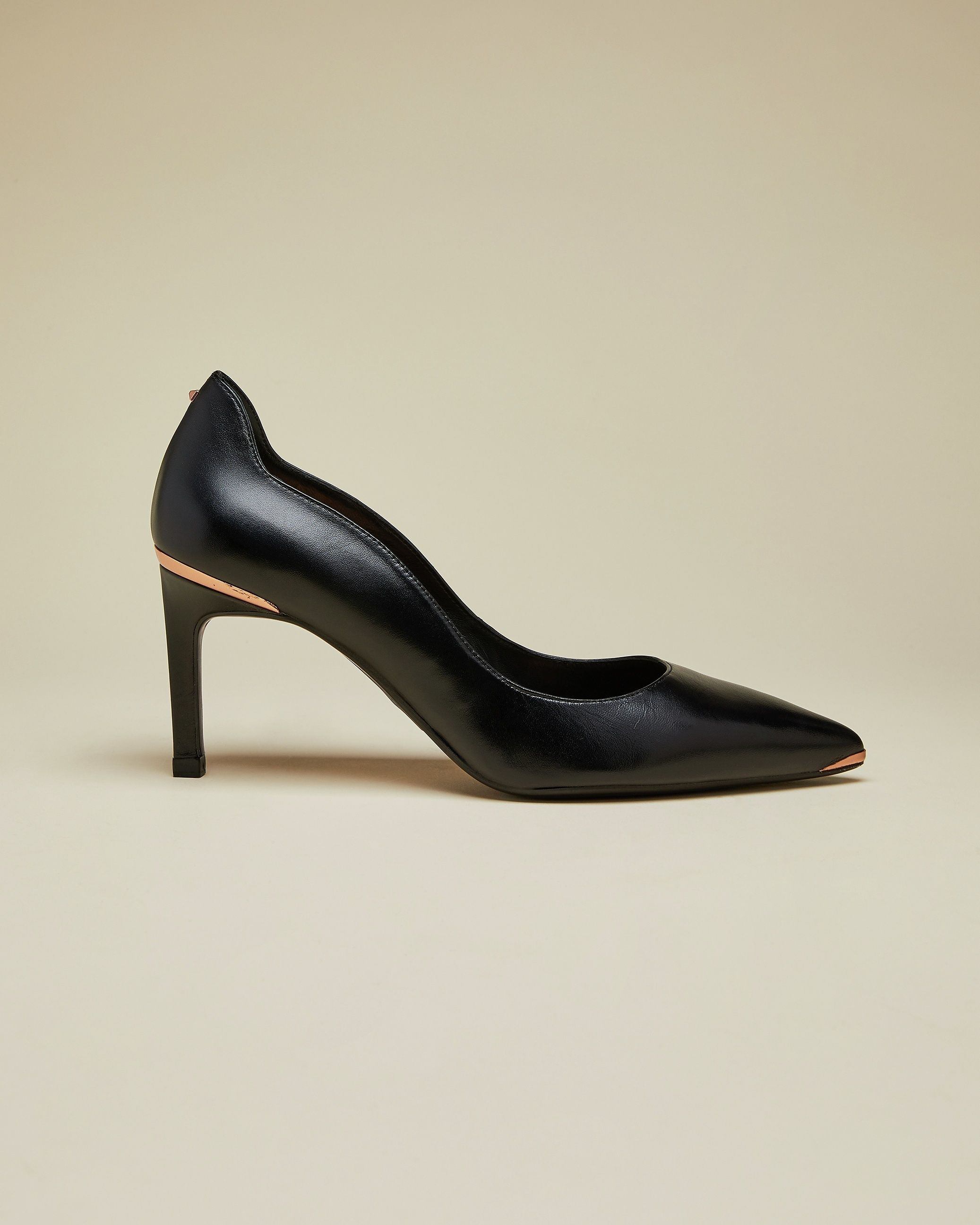Ted Baker Eriina Leather Court Shoes in Black