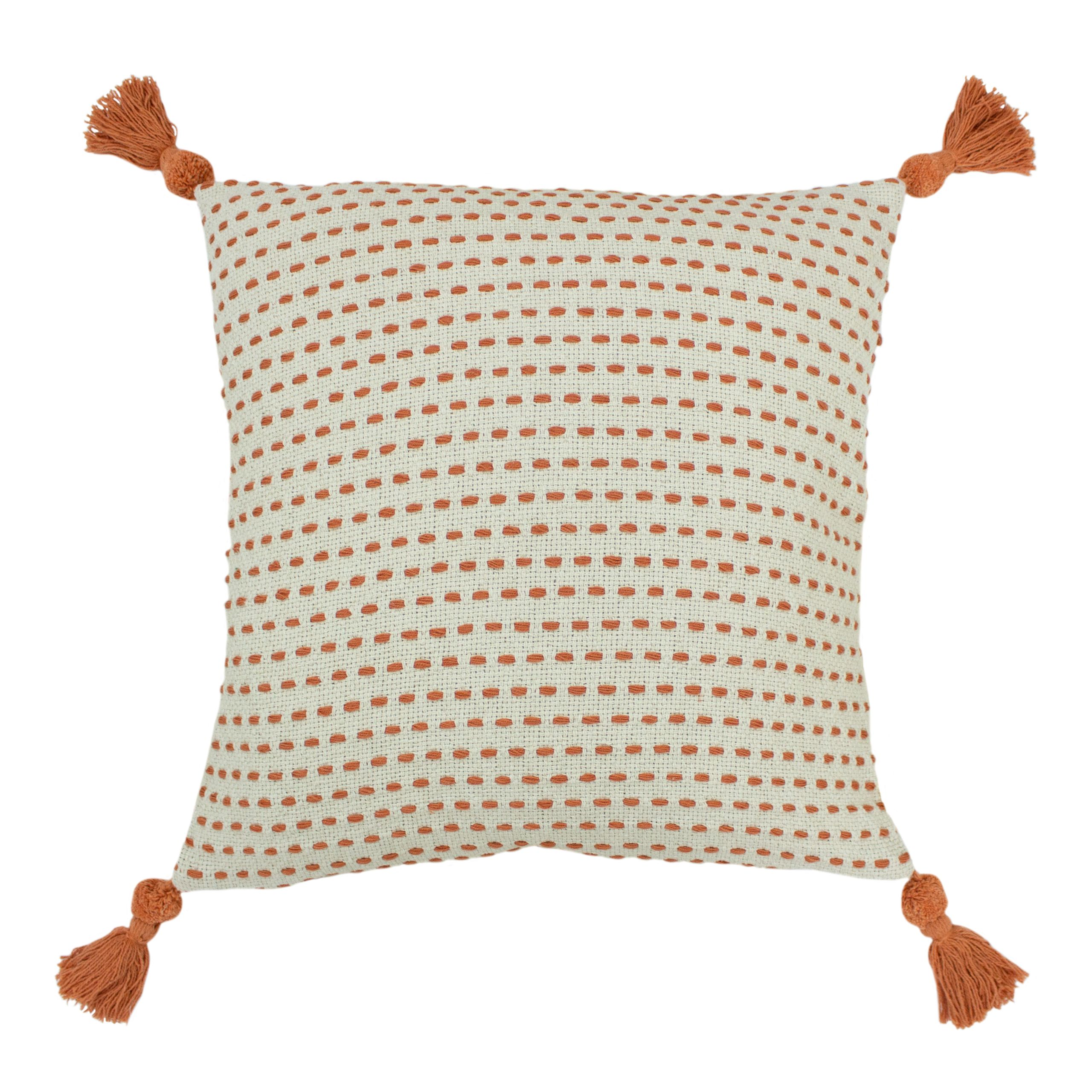 Ezra 50X50 Poly Cushion Coral