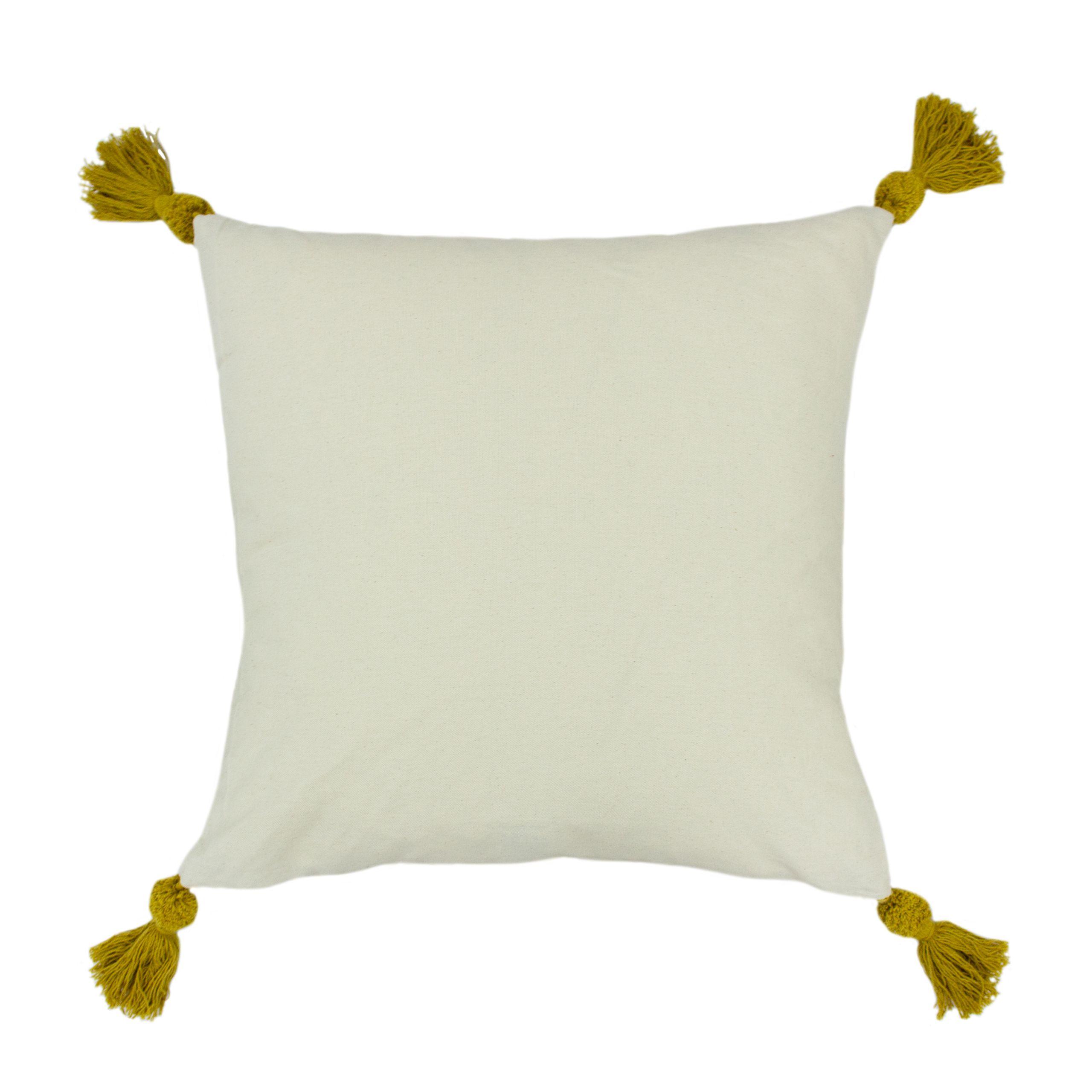 Ezra 50X50 Poly Cushion Ochre