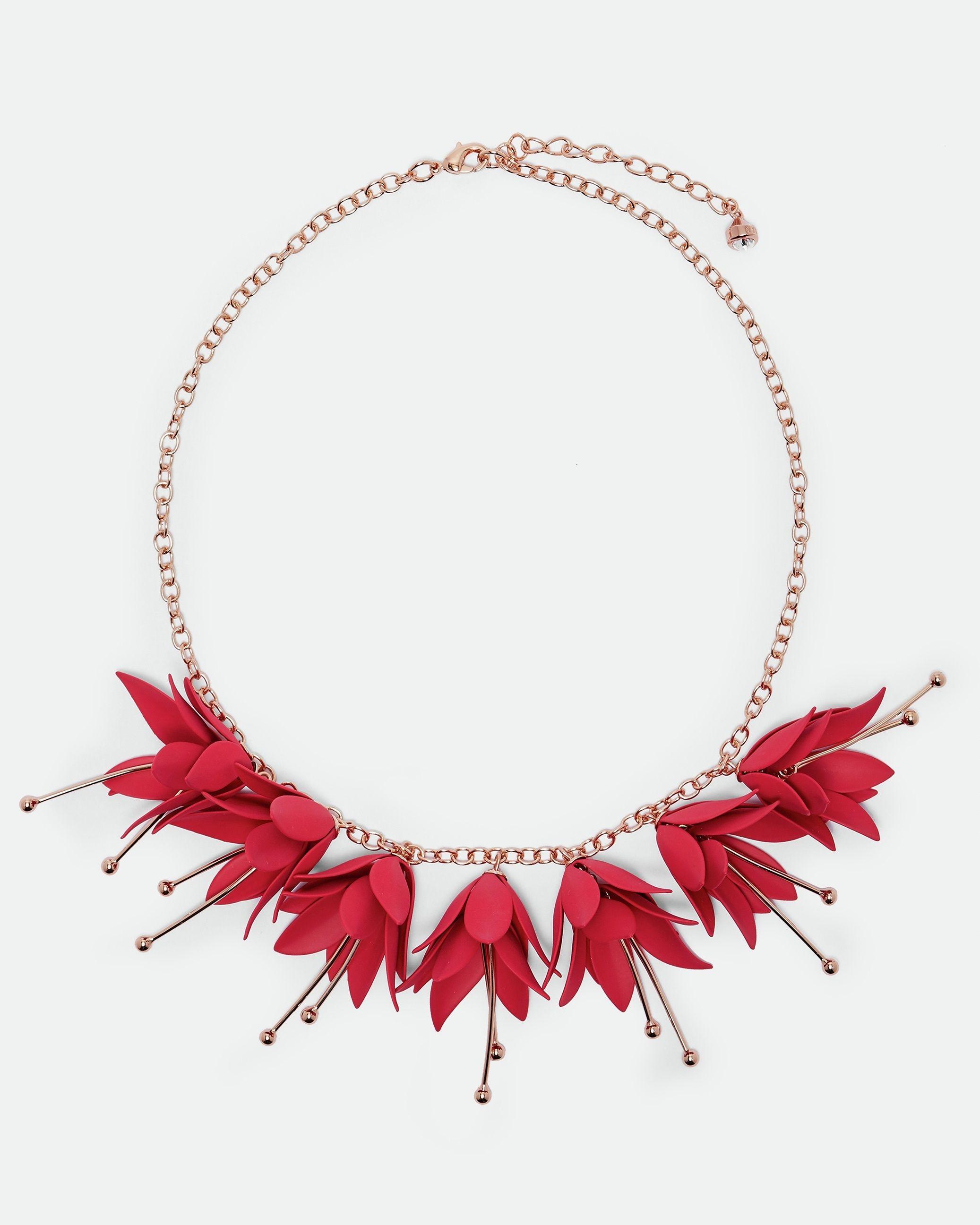 Ted Baker Fawna Fuchsia Drop Necklace, Fuchsia