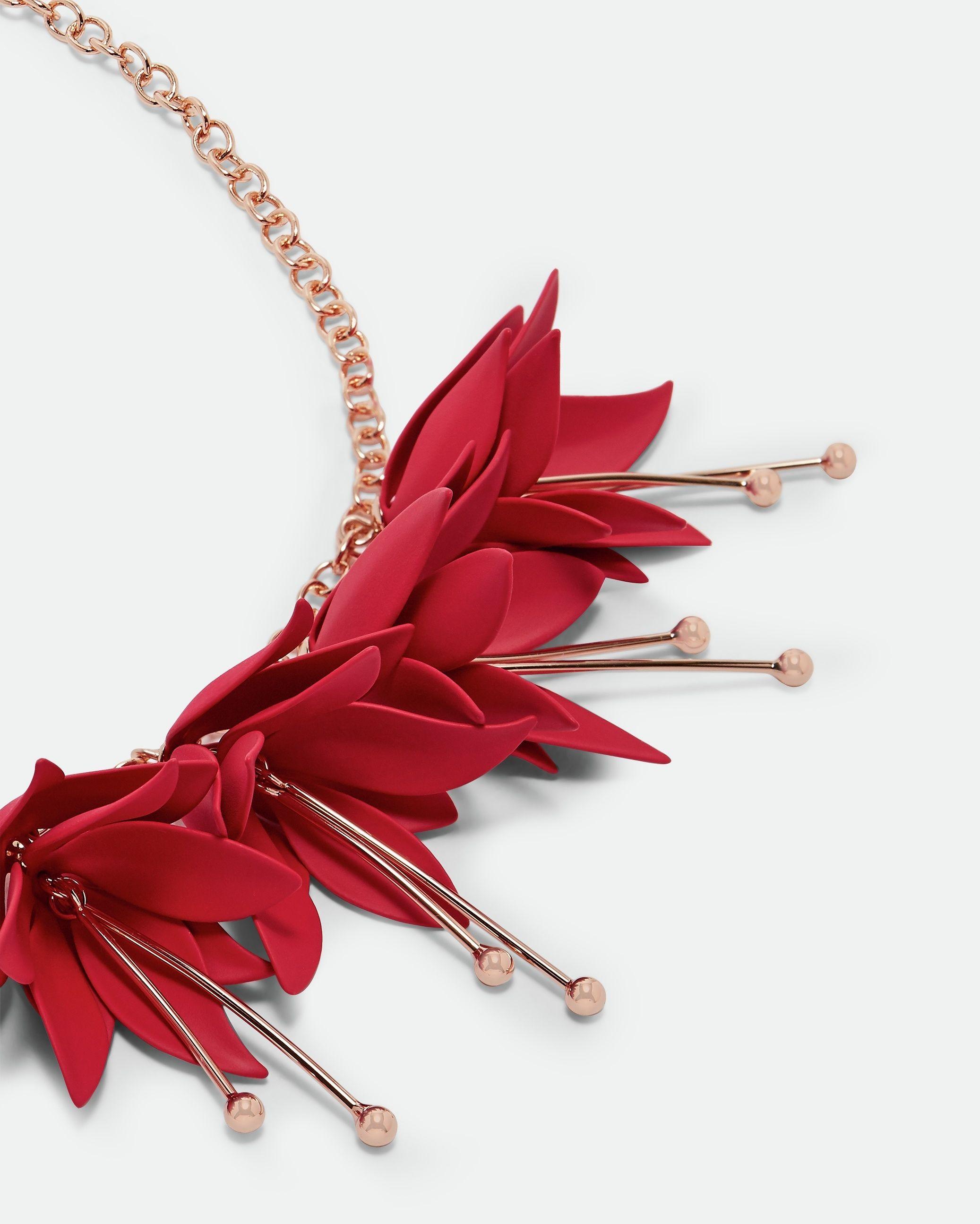 Ted Baker Fawna Fuchsia Drop Necklace in Fuchsia
