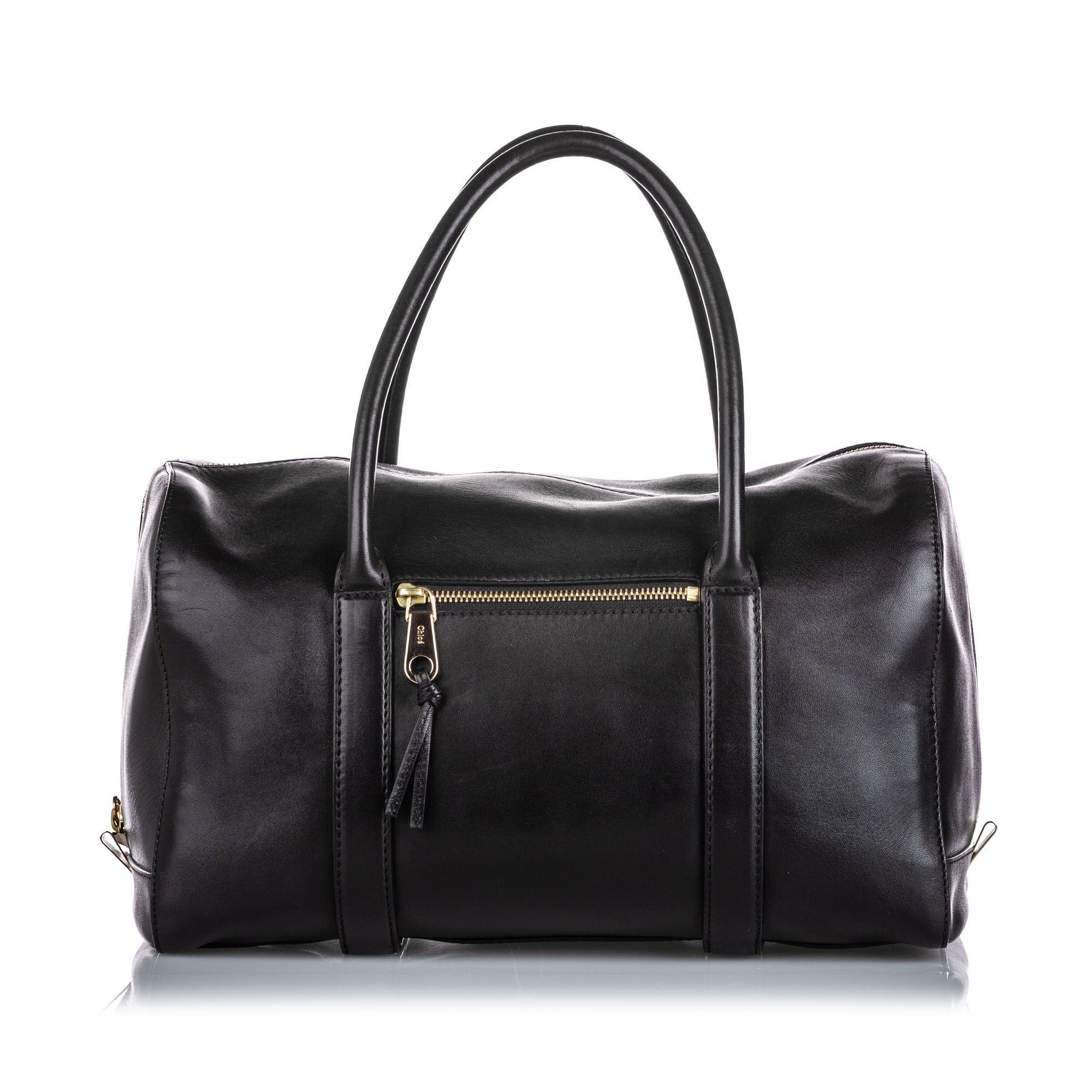 Vintage Chloe Leather Madeleine Black
