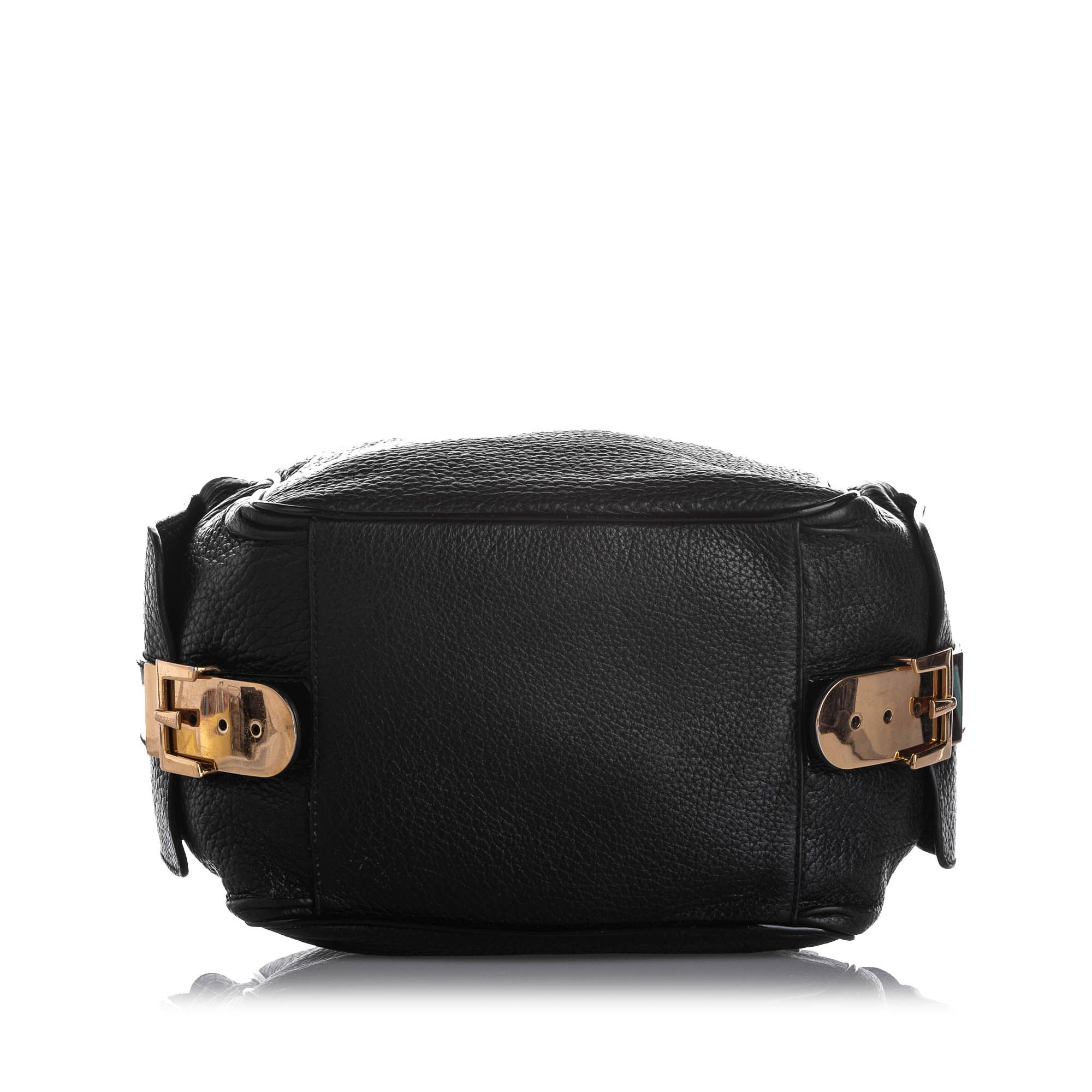 Vintage Dolce&Gabbana Leather Crossbody Bag Black