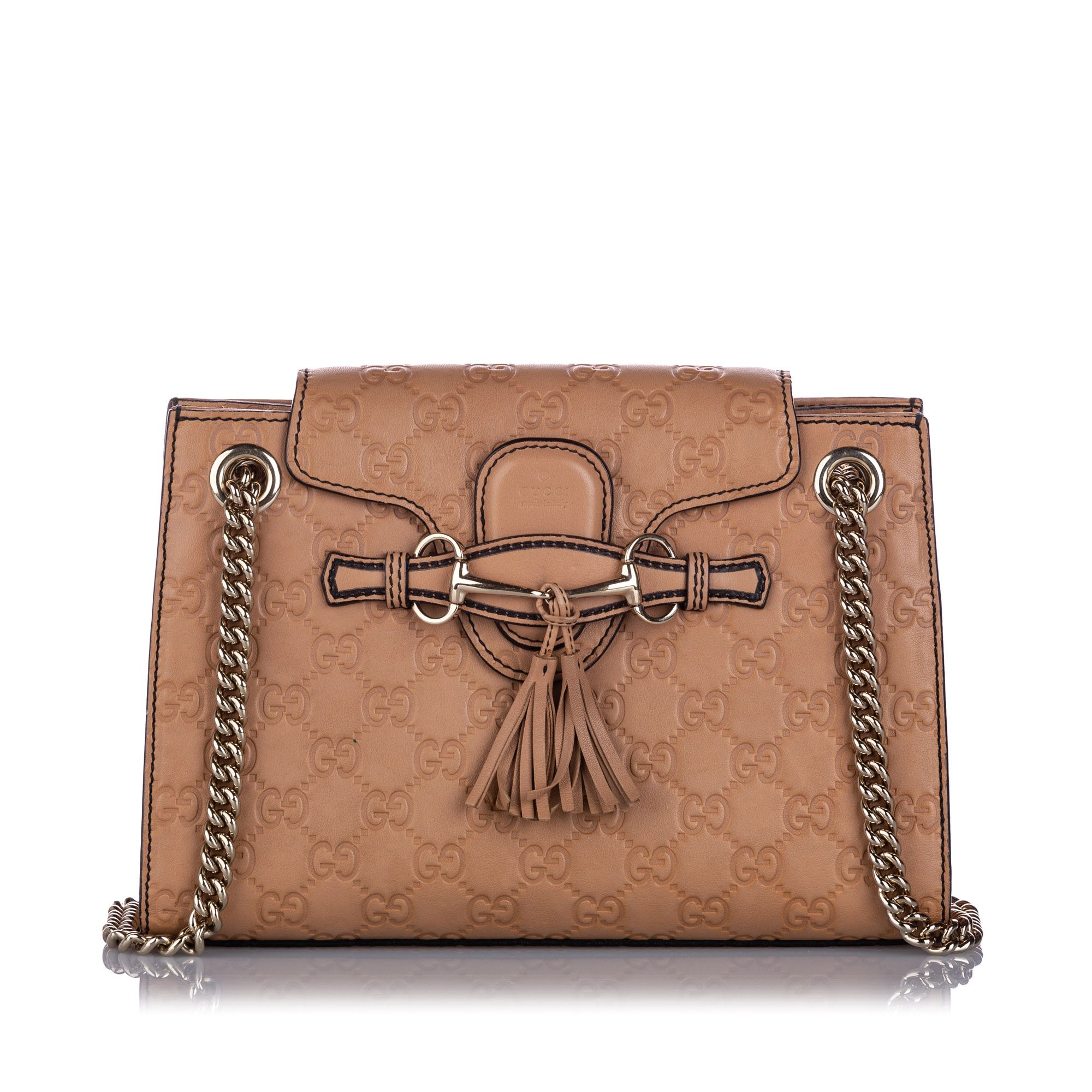 Vintage Gucci Small Guccissima Emily Shoulder Bag Brown