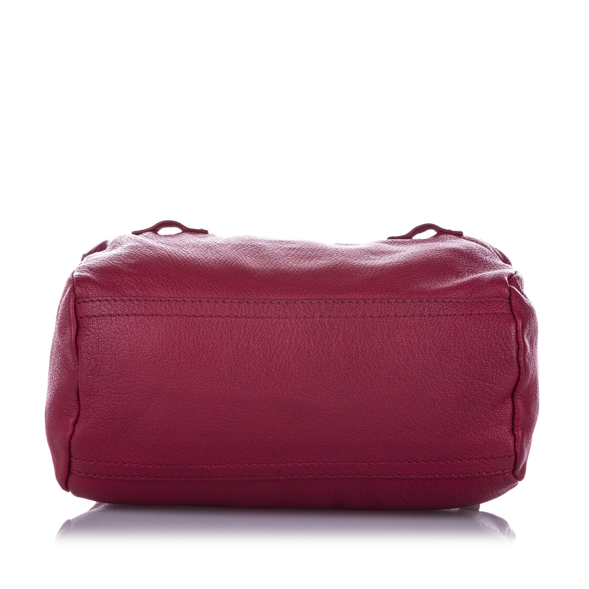 Vintage Givenchy Mini Pandora Leather Crossbody Bag Pink