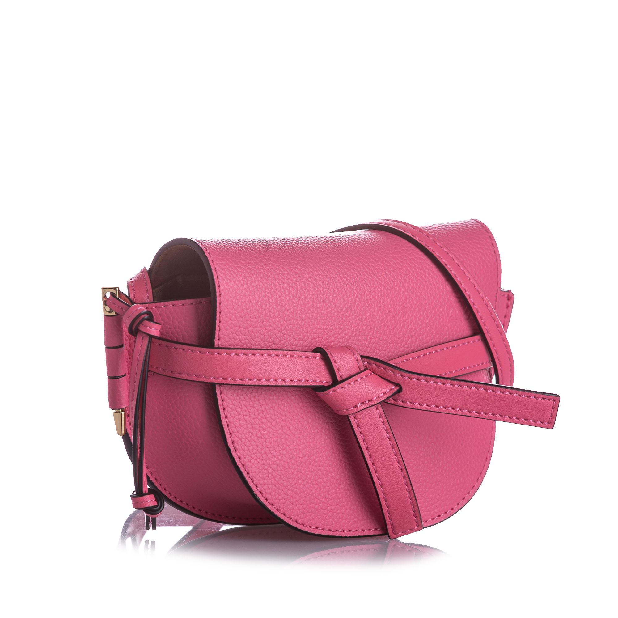 Vintage Loewe Mini Gate Leather Crossbody Bag Pink