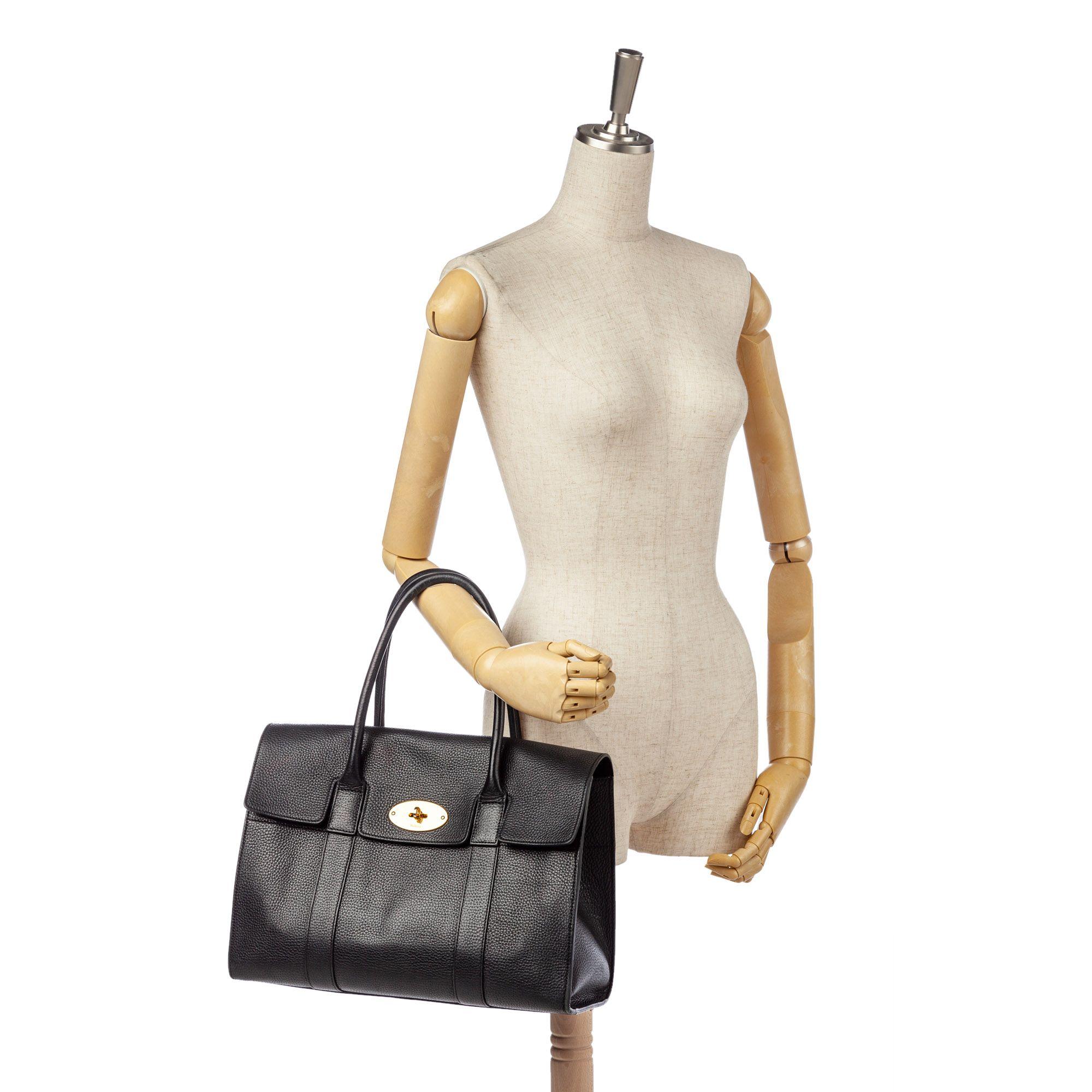 Vintage Mulberry Bayswater Leather Handbag Black