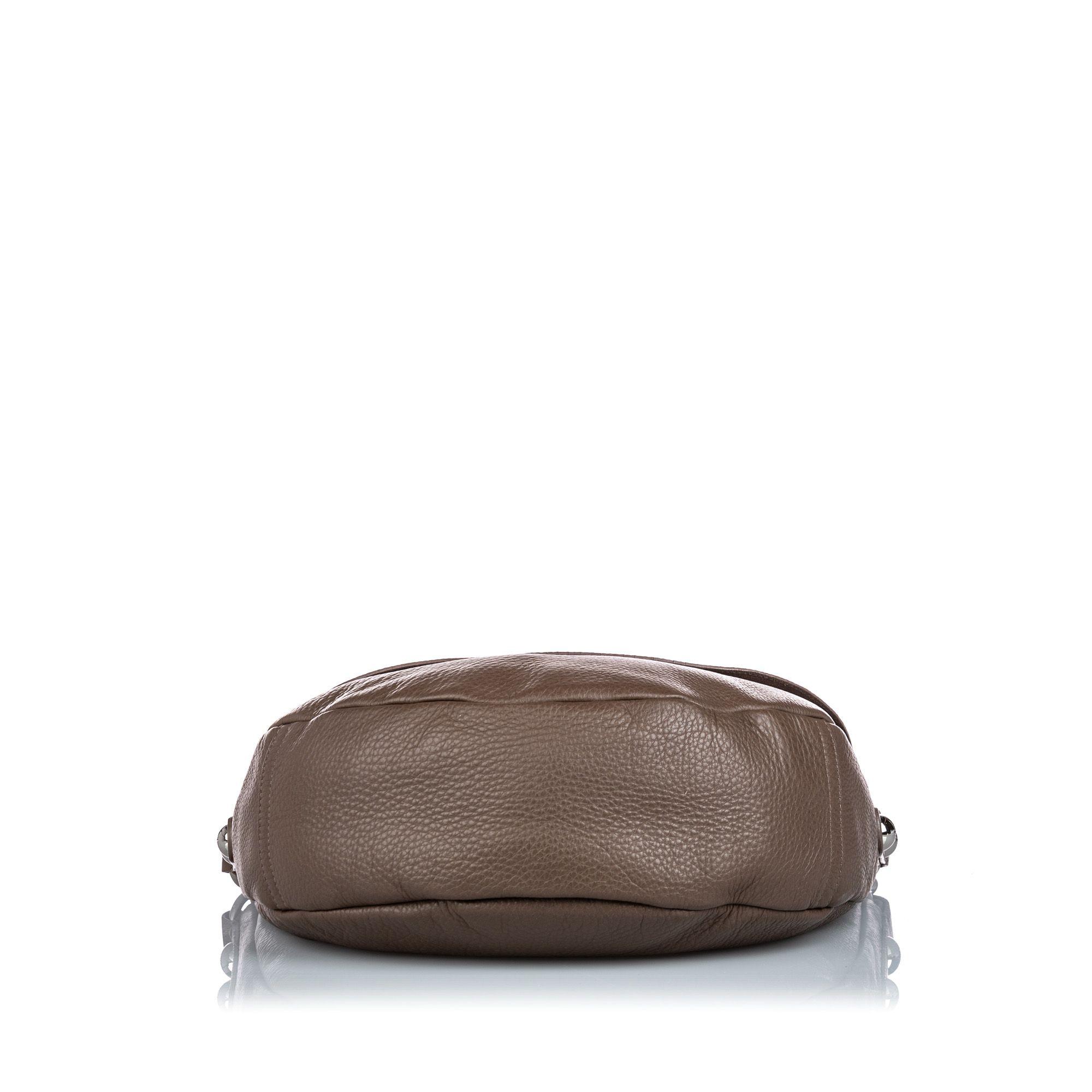 Vintage Mulberry Leather Daria Shoulder Bag Brown