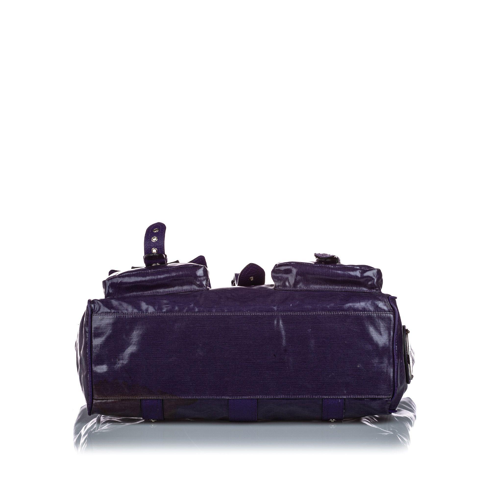 Vintage Mulberry Roxanne Shoulder Bag Purple