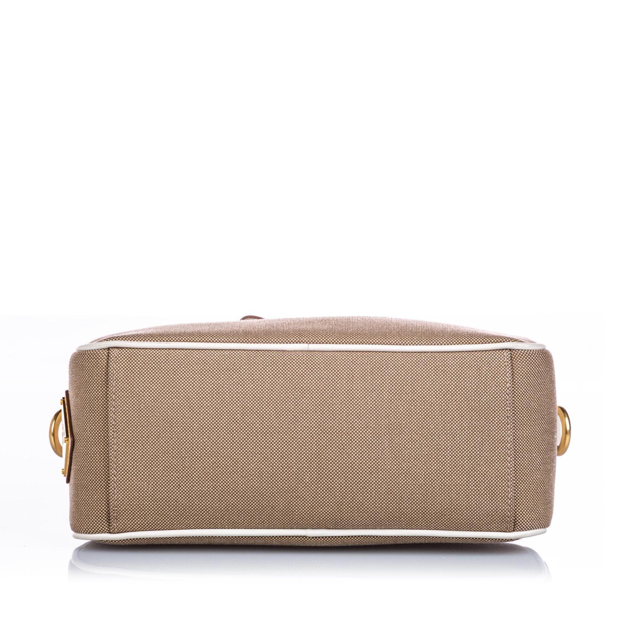 Prada Canapa Canvas Crossbody Bag Brown