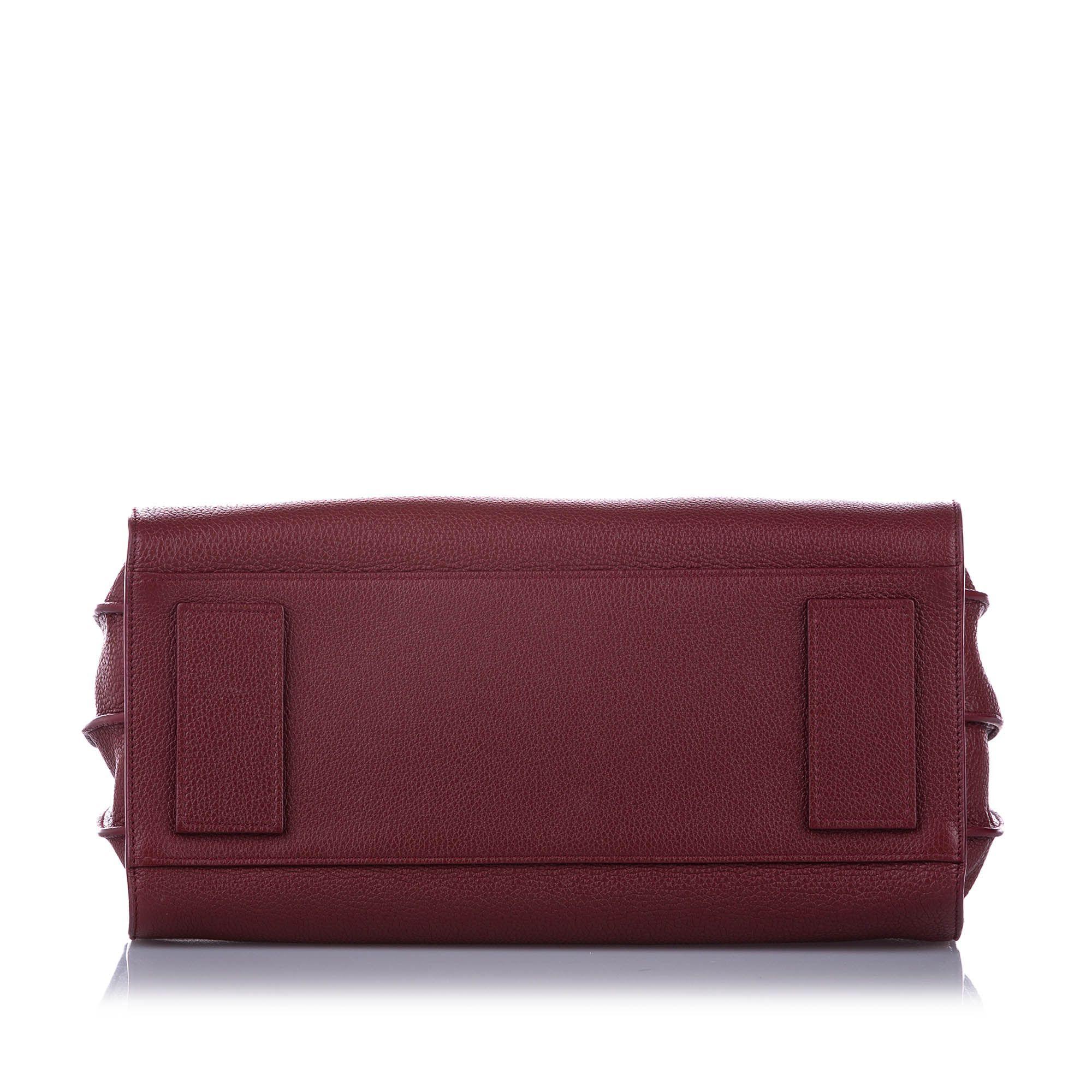 Vintage YSL Small Sac de Jour Leather Satchel Red