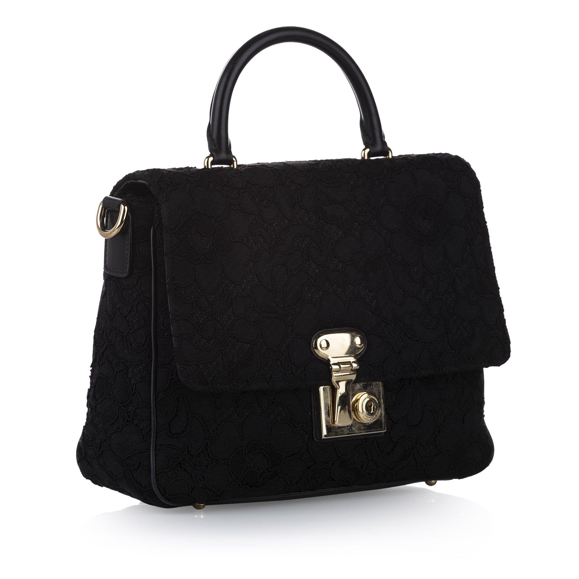 Vintage Dolce&Gabbana Tweed Satchel Black