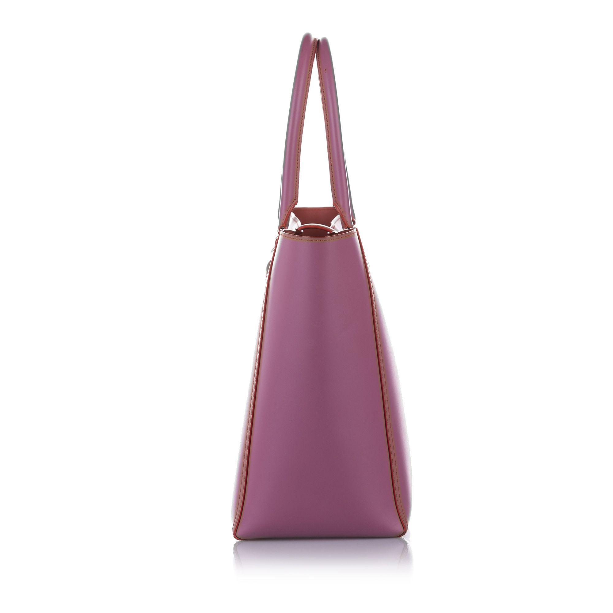 Vintage Loewe Amazona Leather Tote Bag Pink