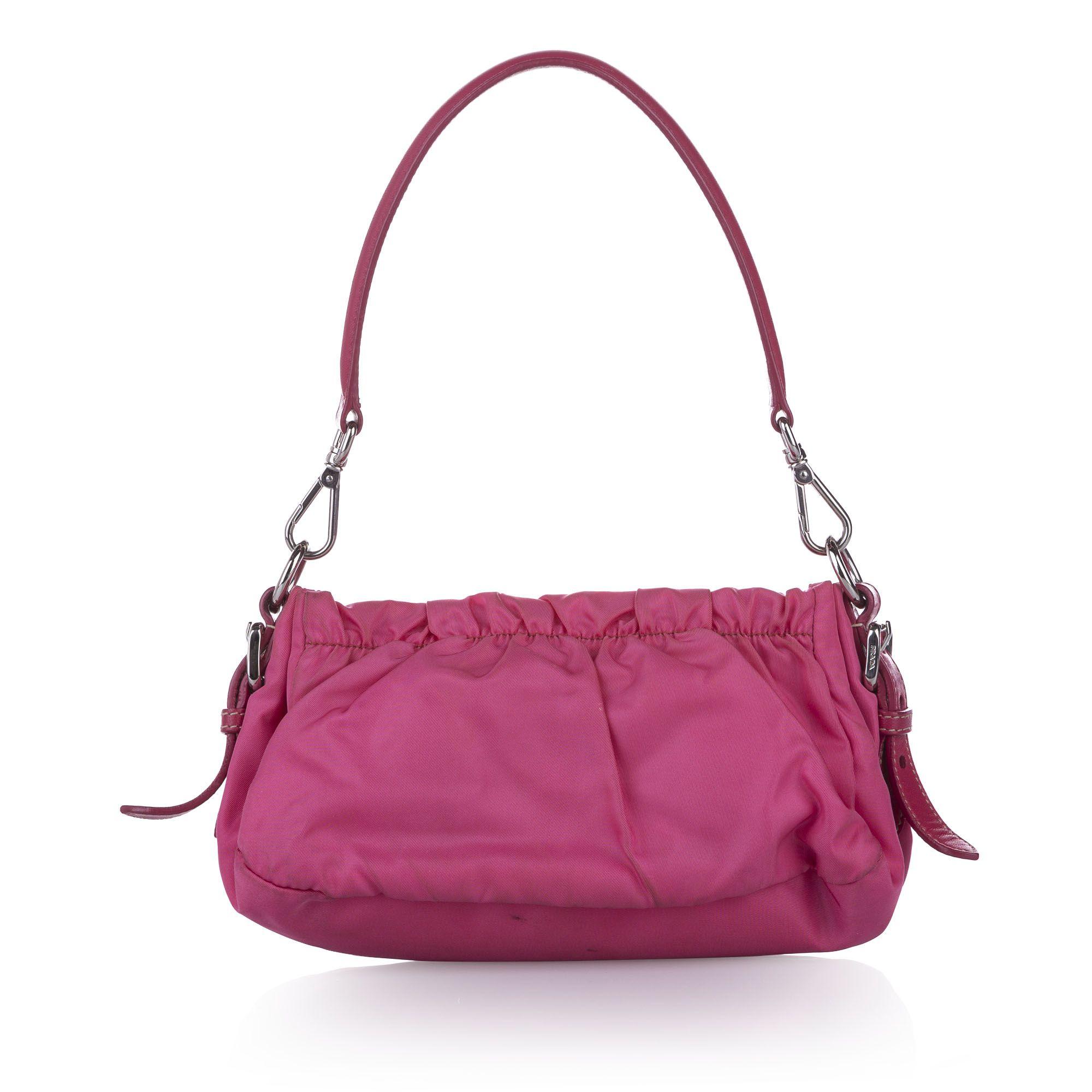 Vintage Prada Tessuto Baguette Pink
