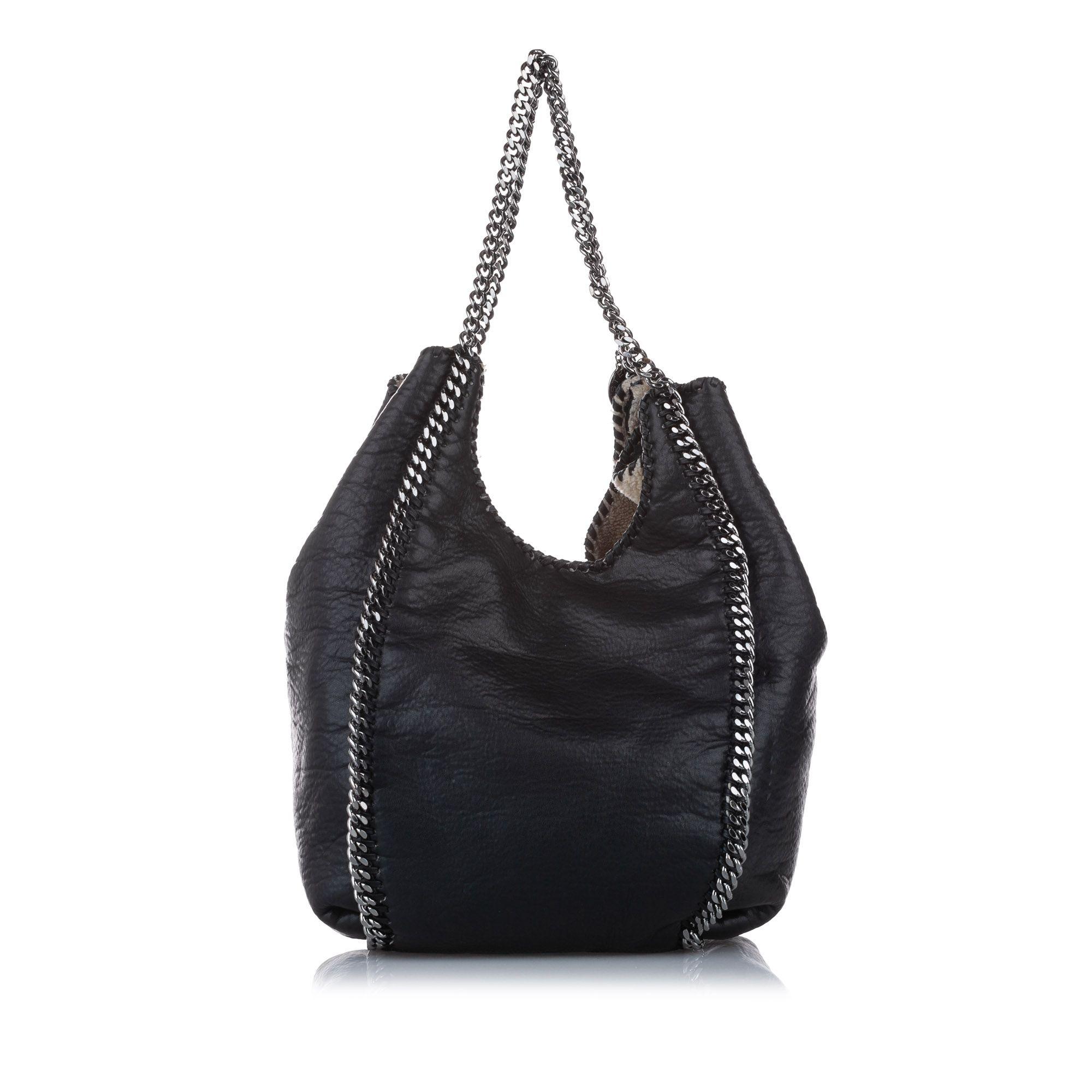 Vintage Stella McCartney Falabella Fold-Over Tote Bag Black