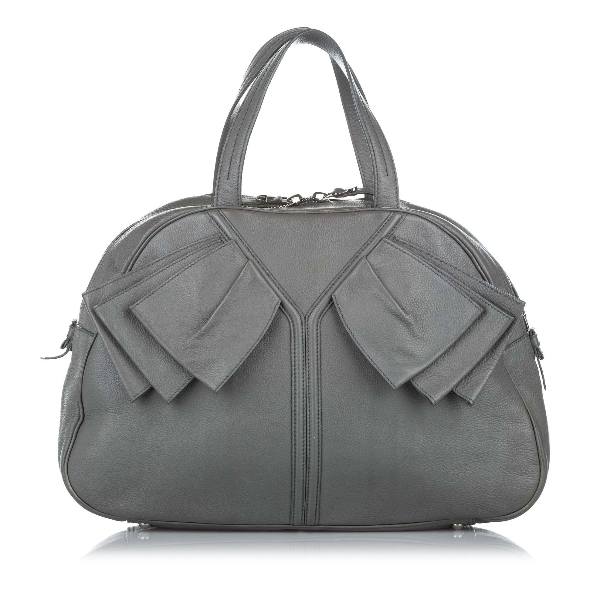 Vintage YSL Leather Tote Bag Brown